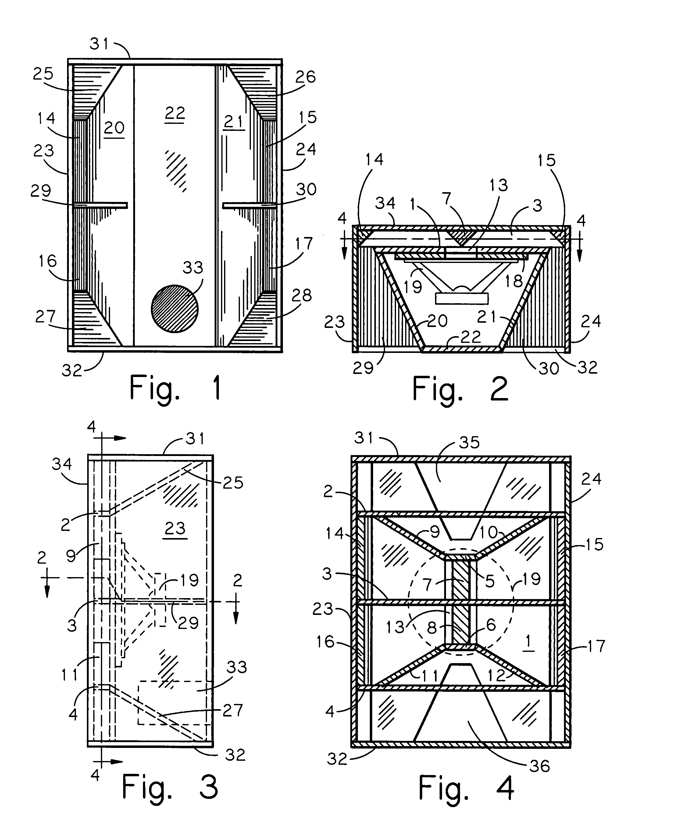 Patent Us7520368 Horizontally Folded Reflex Ported Bass Horn Enclosure Google Patents
