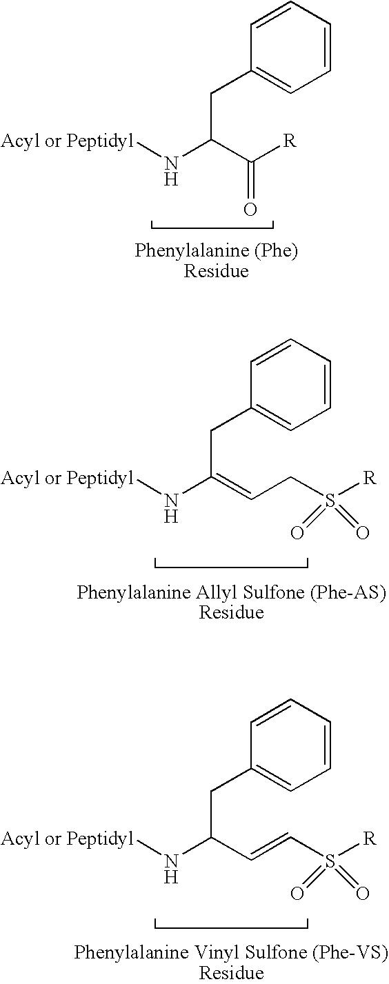 Patent Us7521427 Peptidyl Allyl Sulfones Google Patents