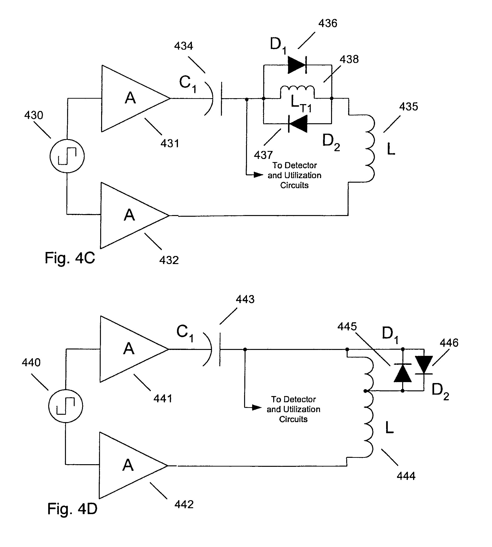 Patent Us7528725 Passive Dynamic Antenna Tuning Circuit For A Half Duplex Rfid Mini Transponders Drawing