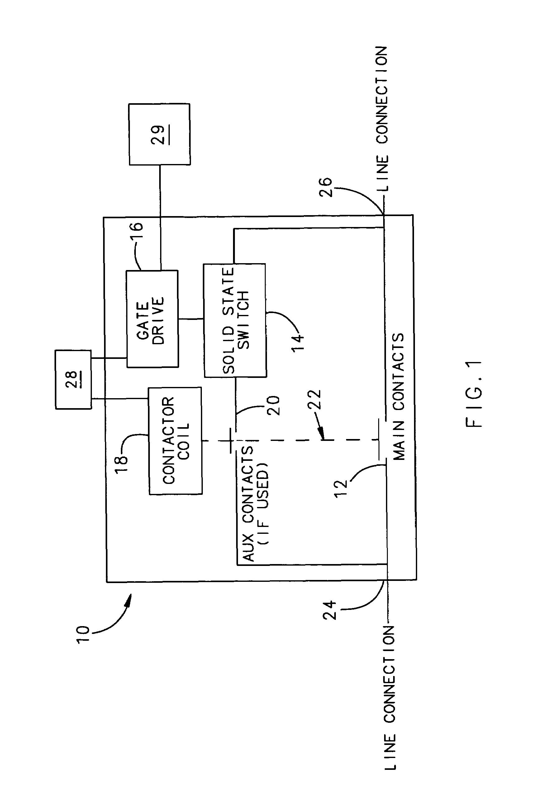 براءة الاختراع US7538990 - High voltage DC contactor hybrid