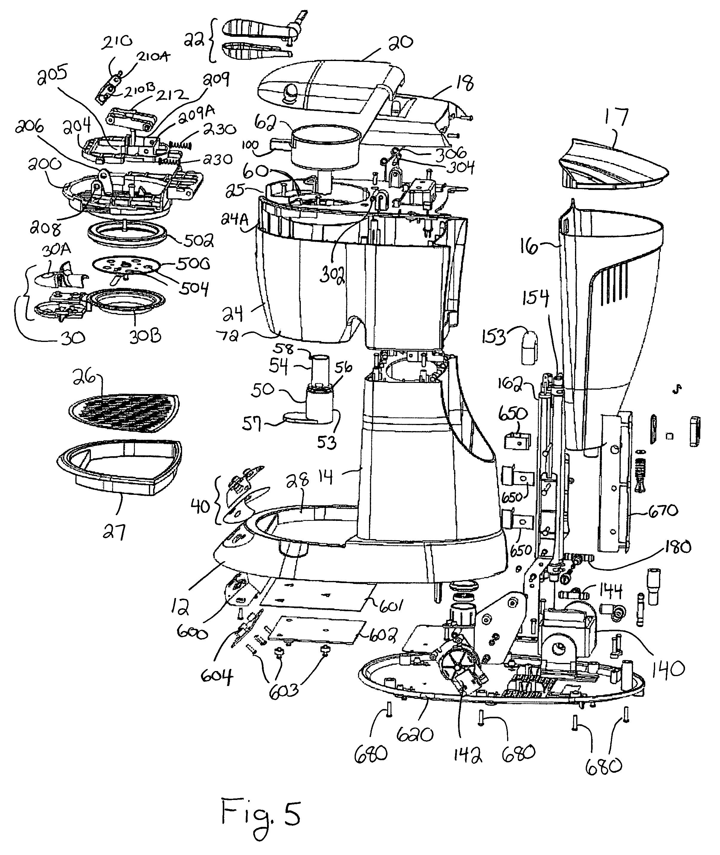 patent us7543526 - coffee maker