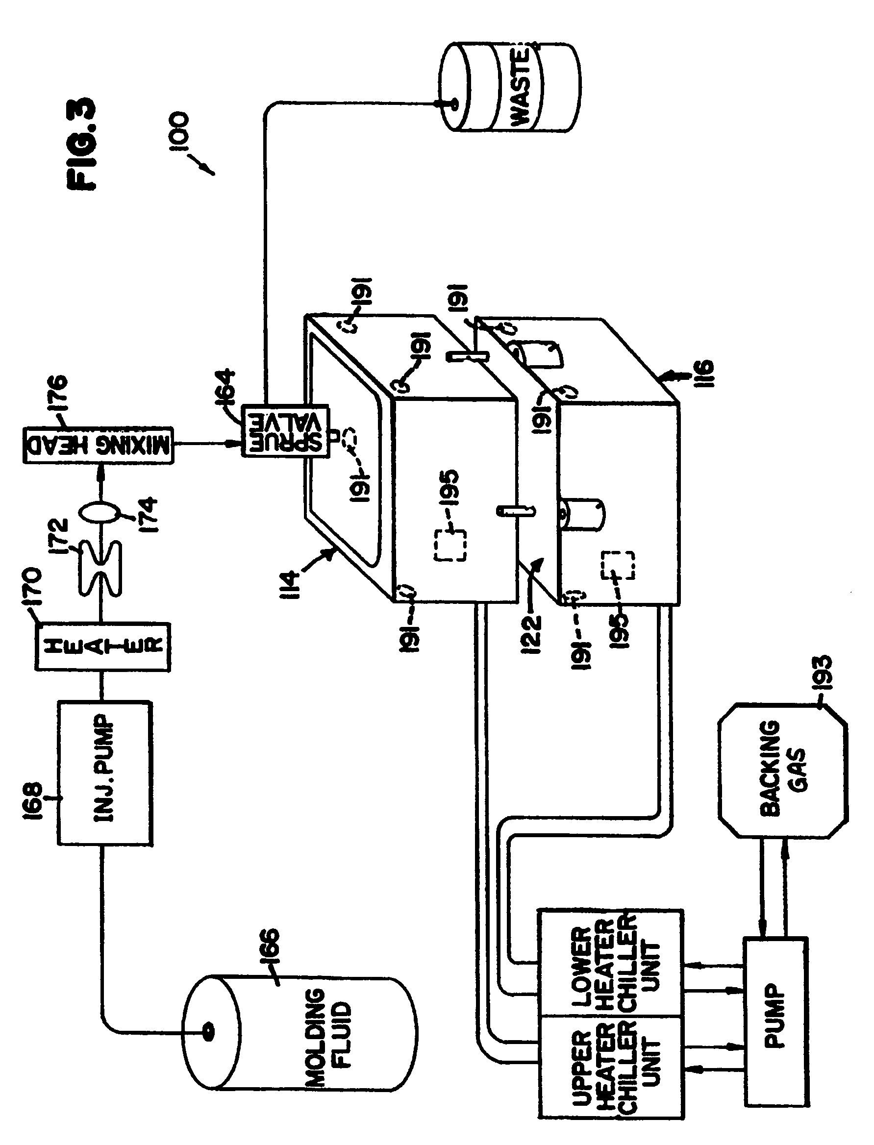 US07553435 20090630 D00003 patent us7553435 method and apparatus for molding composite,Daimler Sp250 Wiring Diagram
