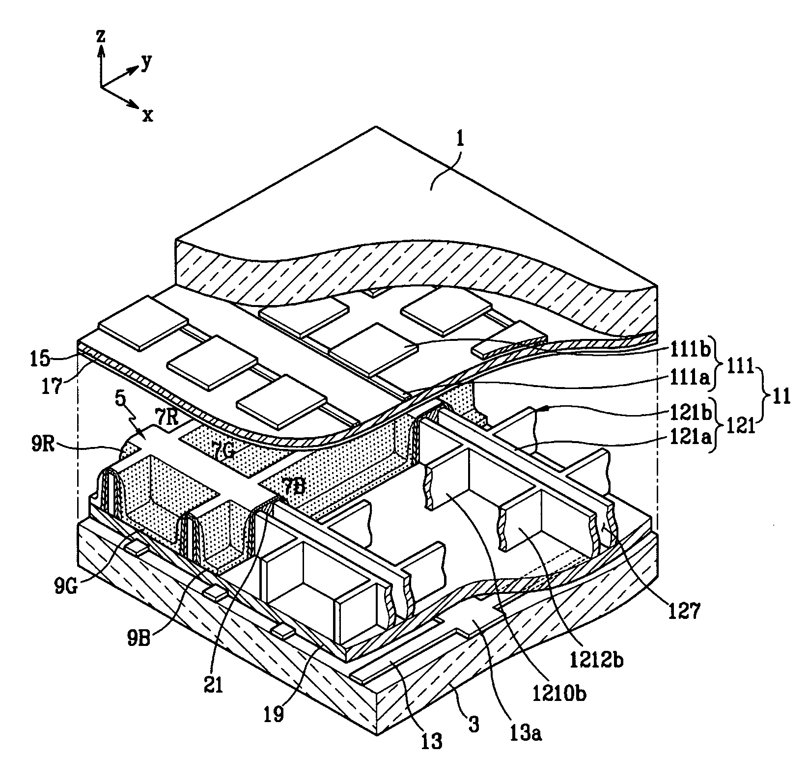 brevet us7557505 plasma display panel provided with display Sponge Electrodes patent drawing