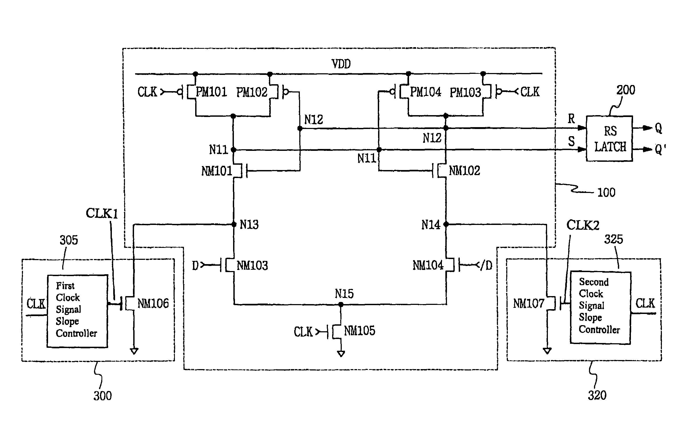 Patent Us7557630 Sense Amplifier Based Flip Flop For Reducing Circuit Diagram Drawing