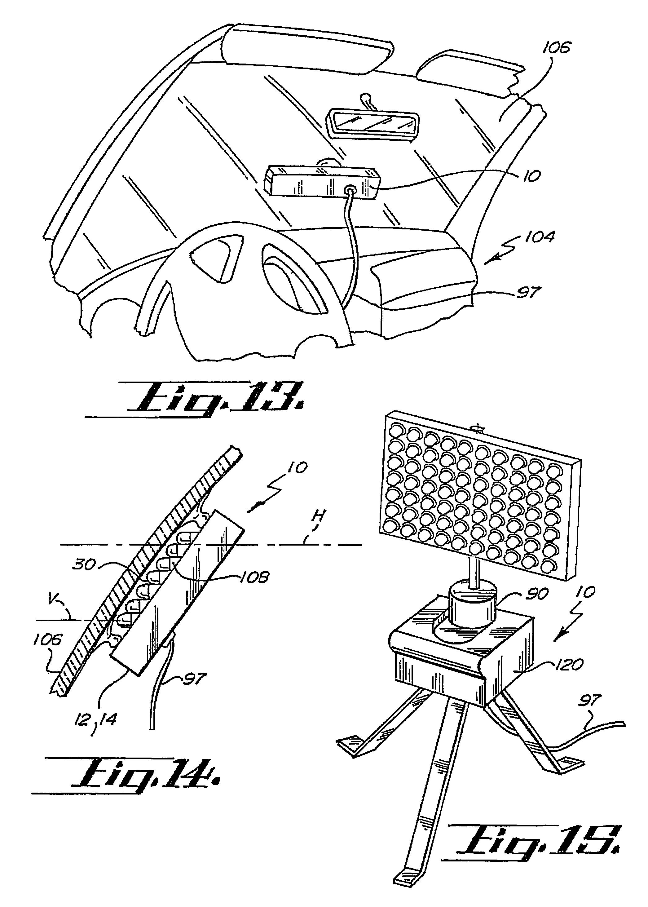 patent us7561036 - led warning signal light and light bar