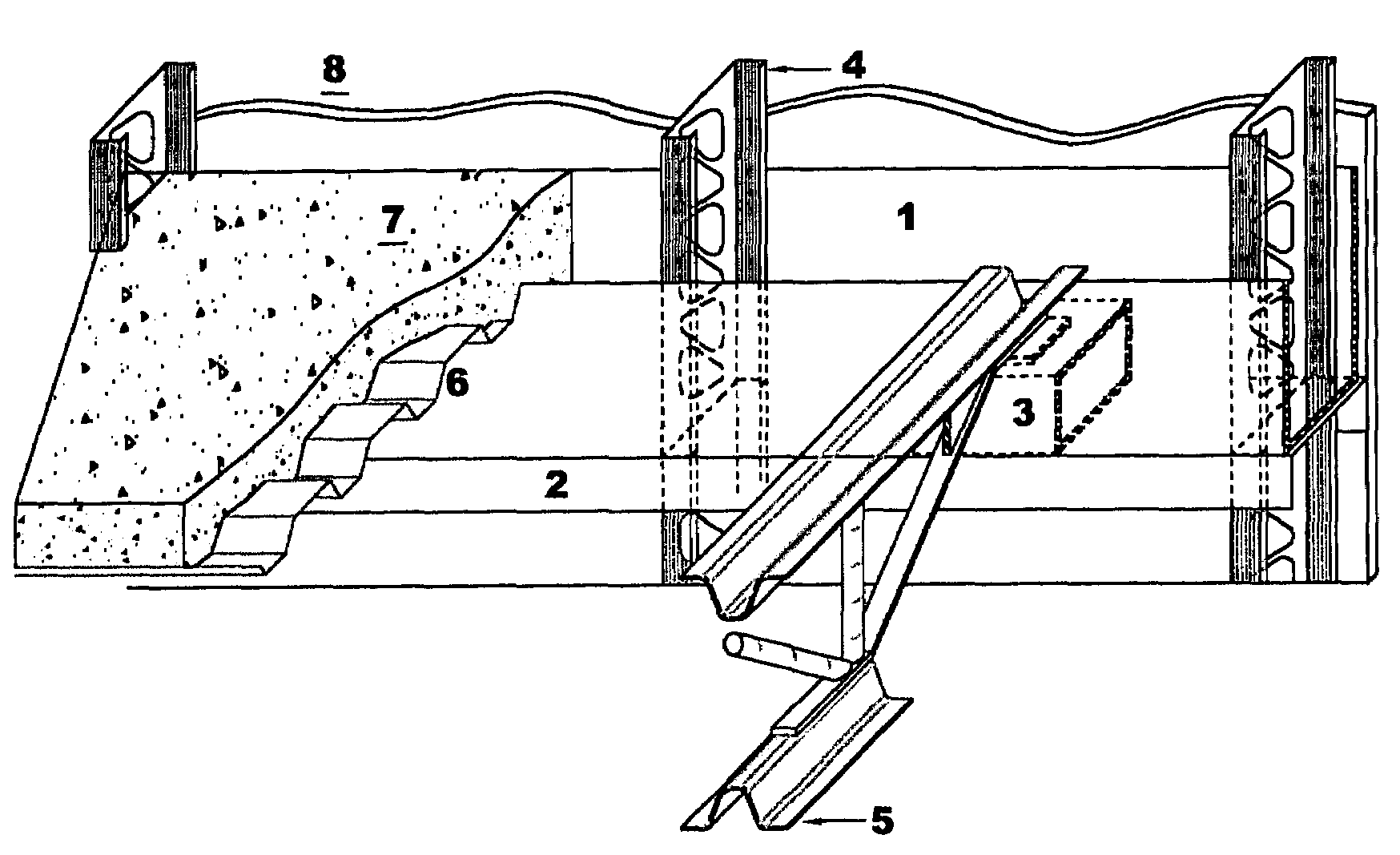 Patent Us7562500 Composite Steel Joist Composite Beam