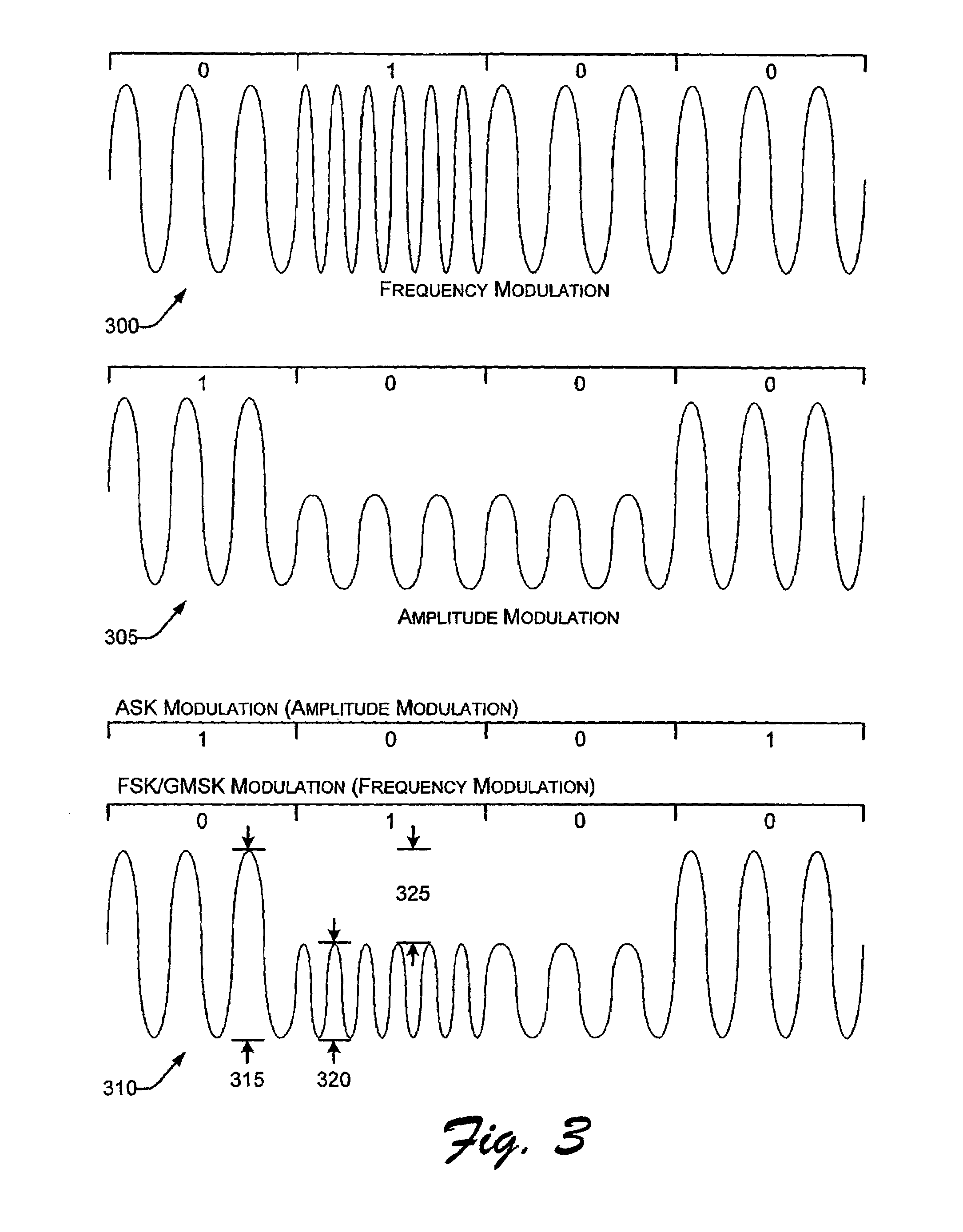 Patent US7570920 - AM-FM hybrid signal communicated to RFID tags