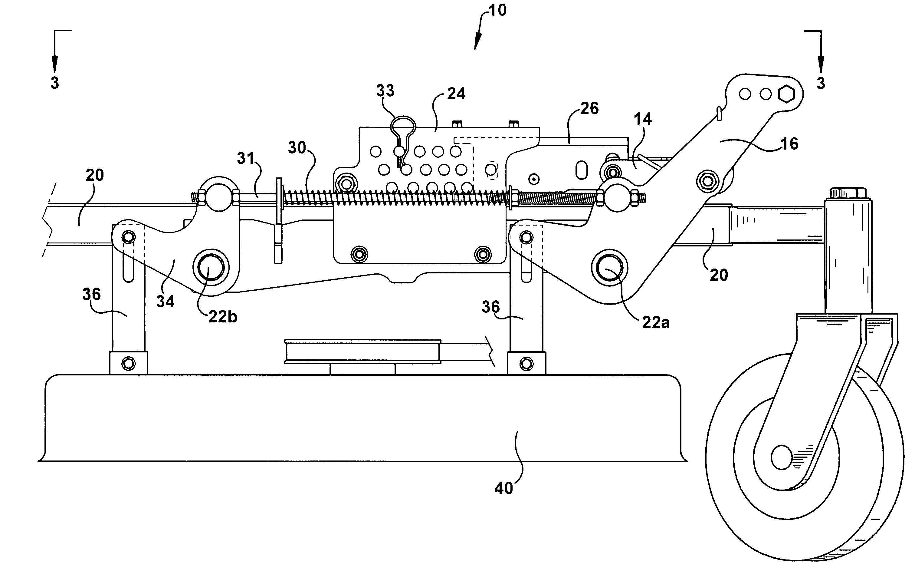 Patent Us7578117 Foot Actuated Height Adjustment