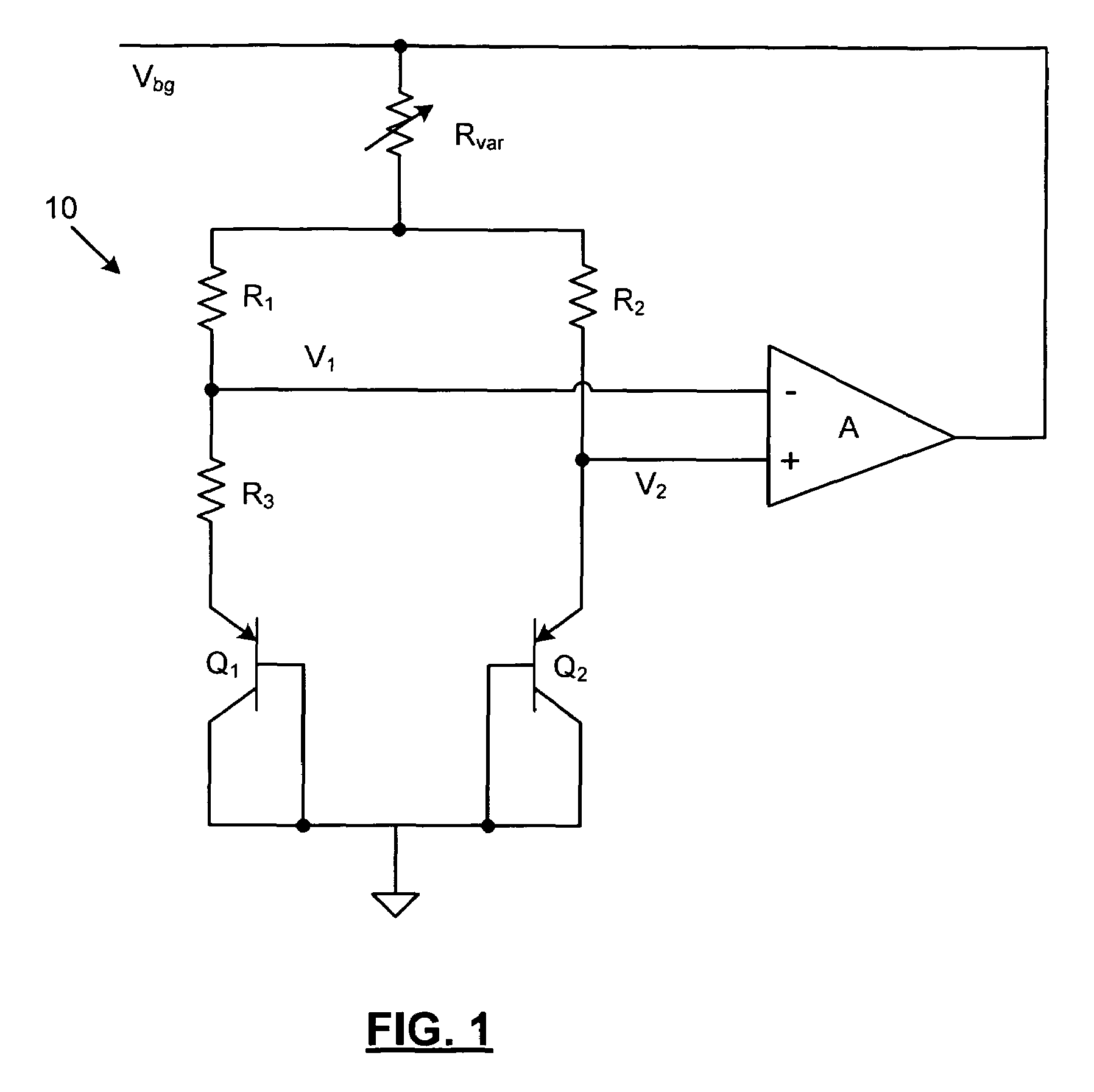 patent us7579822 - low power and high accuracy band gap voltage reference circuit