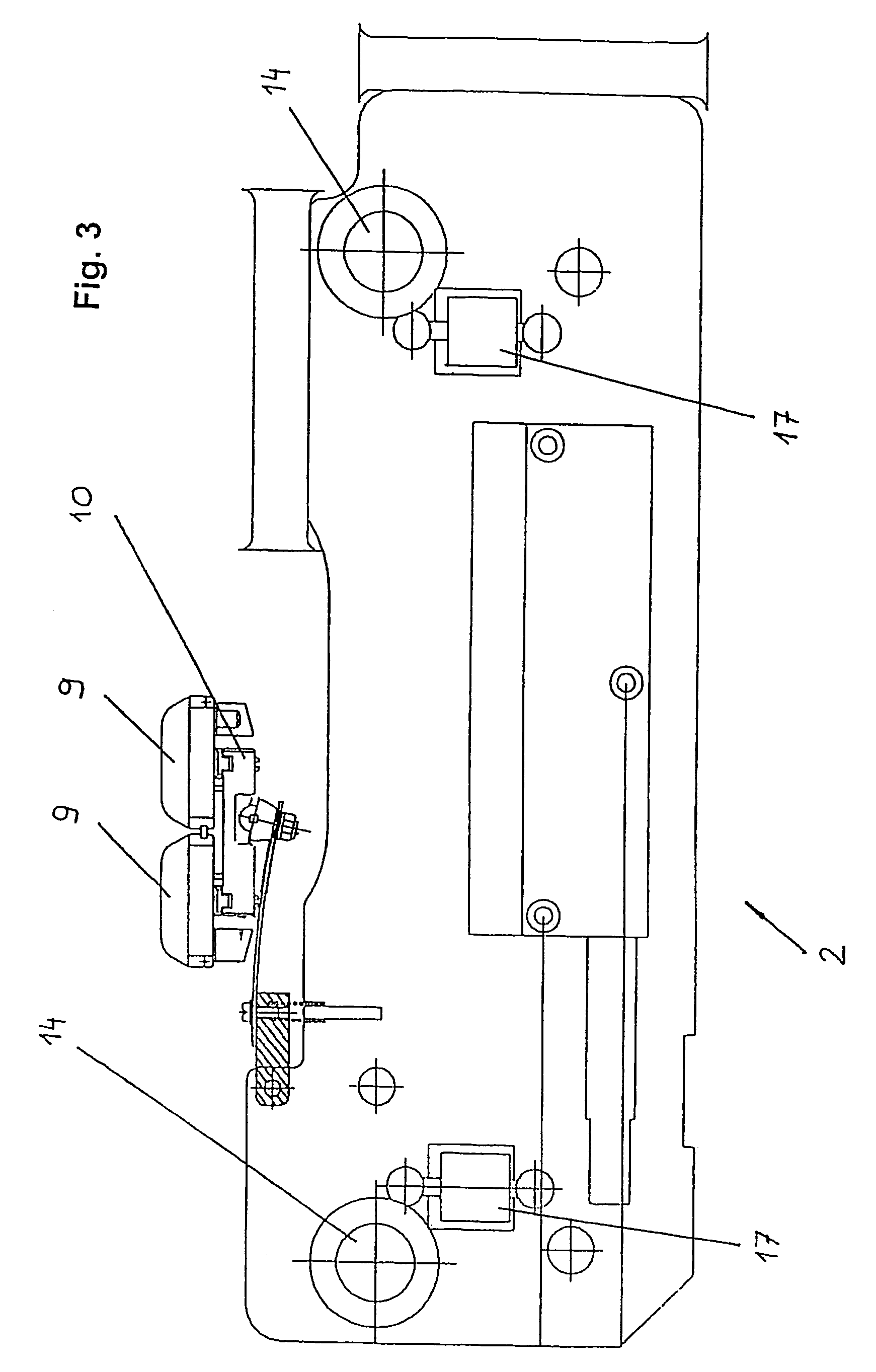 US7584703B2 - Rail system for suspension crane and profile for such rail system - Google Patents