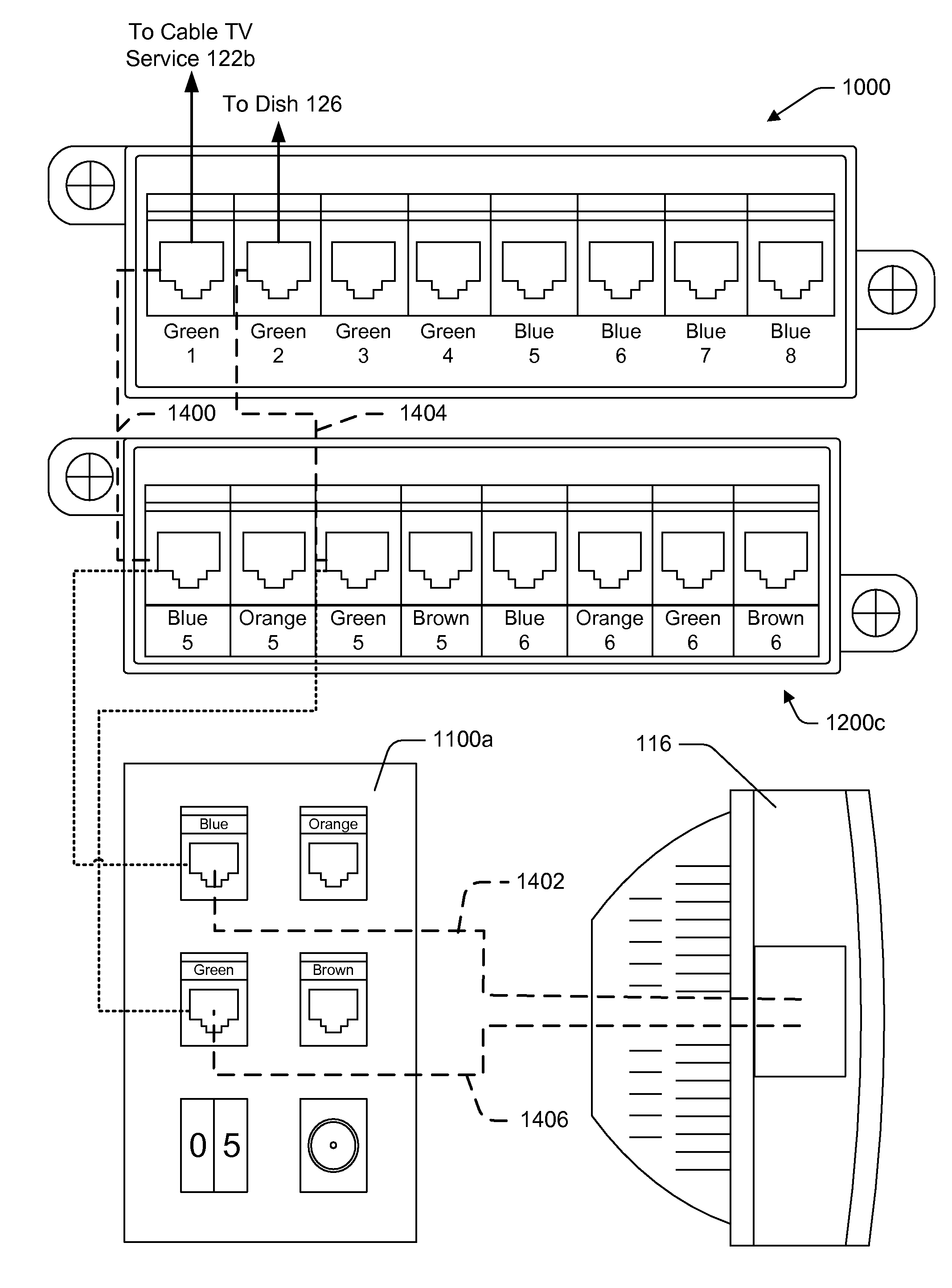 Patent Us7585191 Intuitive Labeling Schemes For Structured Cabling Cat5e Data Wiring Michael Diagram Reference Drawing