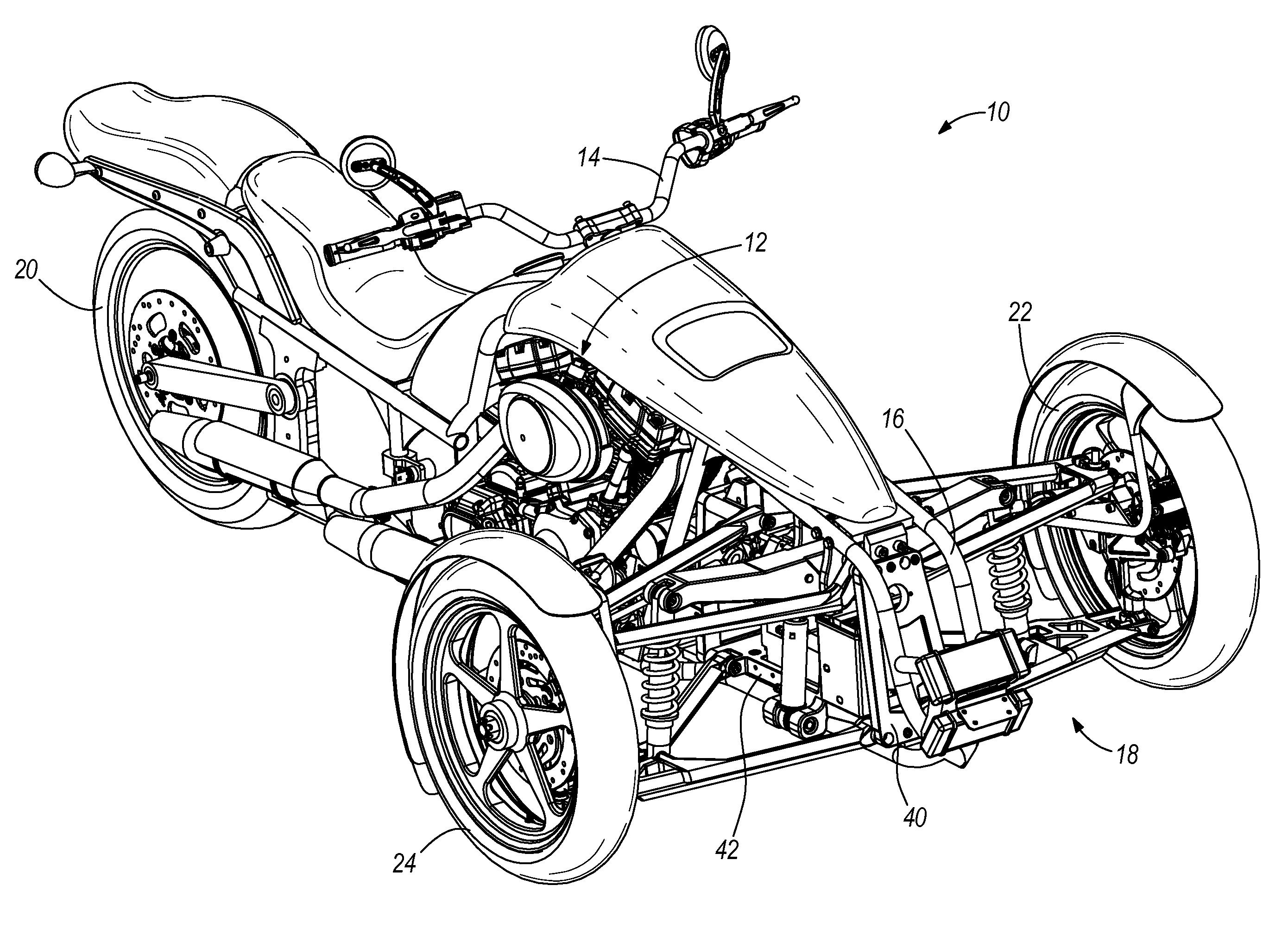 patent us7591337 - leaning suspension mechanics