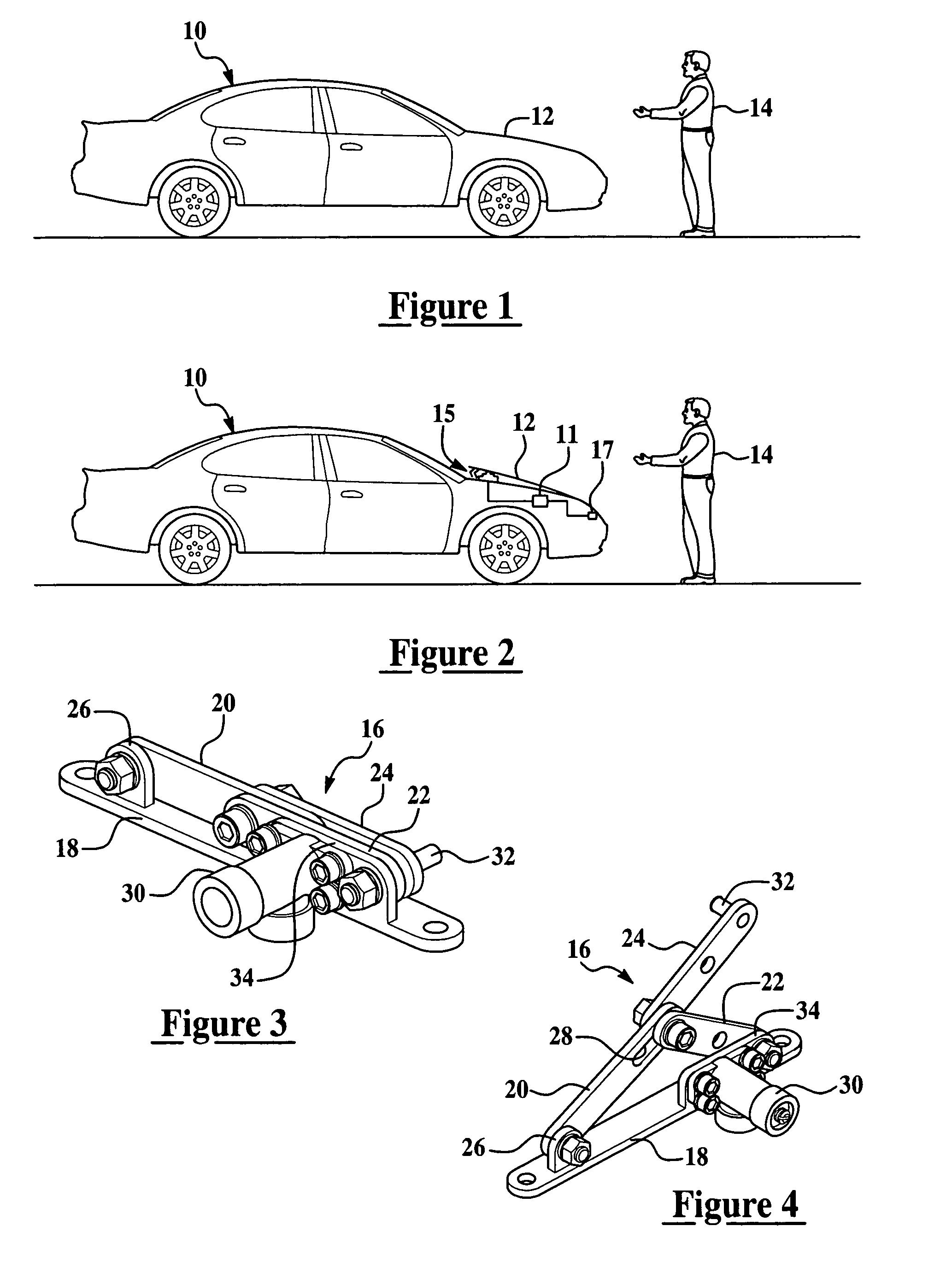 brevet us7594555 hood lift mechanism and method brevets  patent drawing