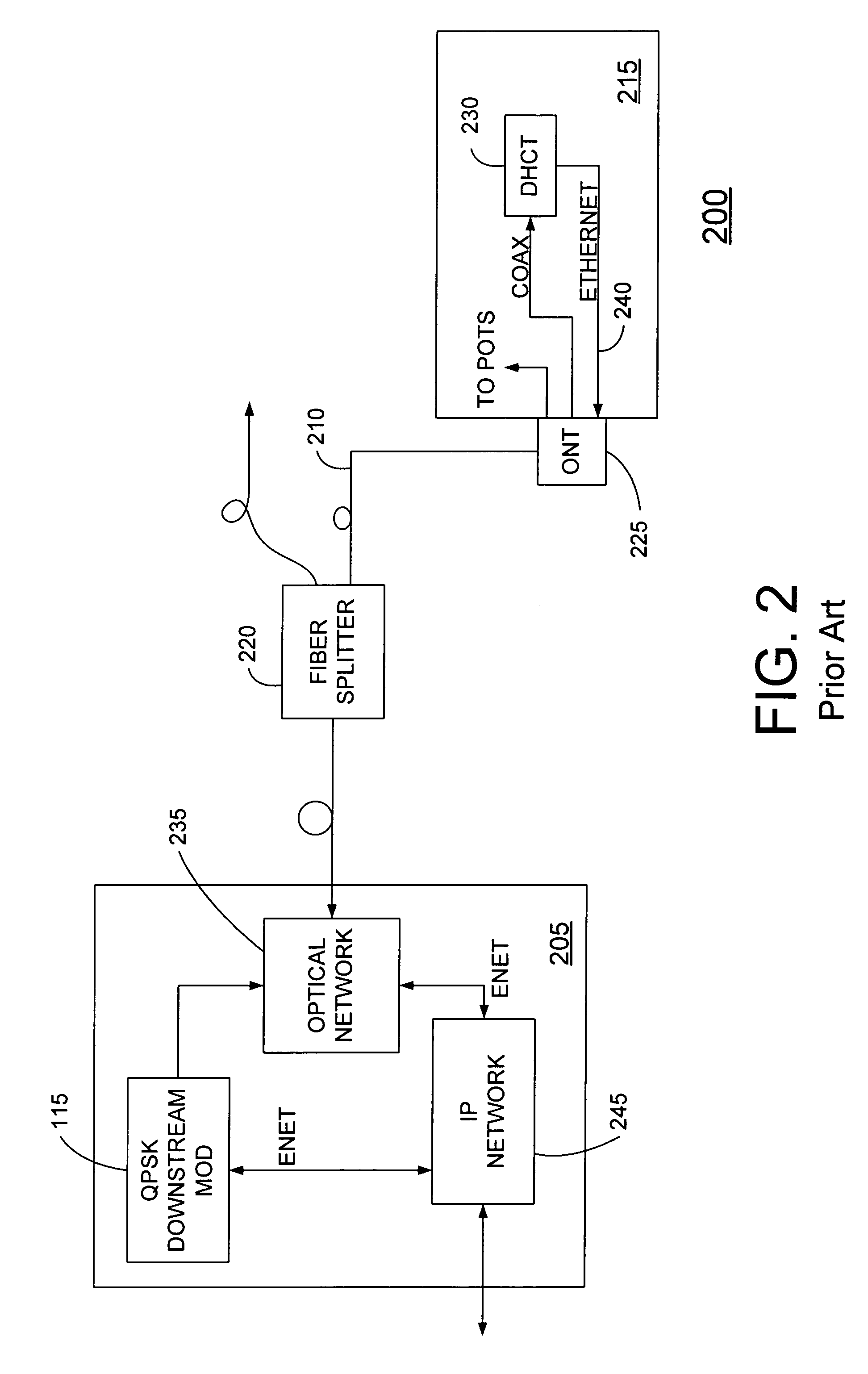 patent us7596801 - single wire return device in a fiber to the home system