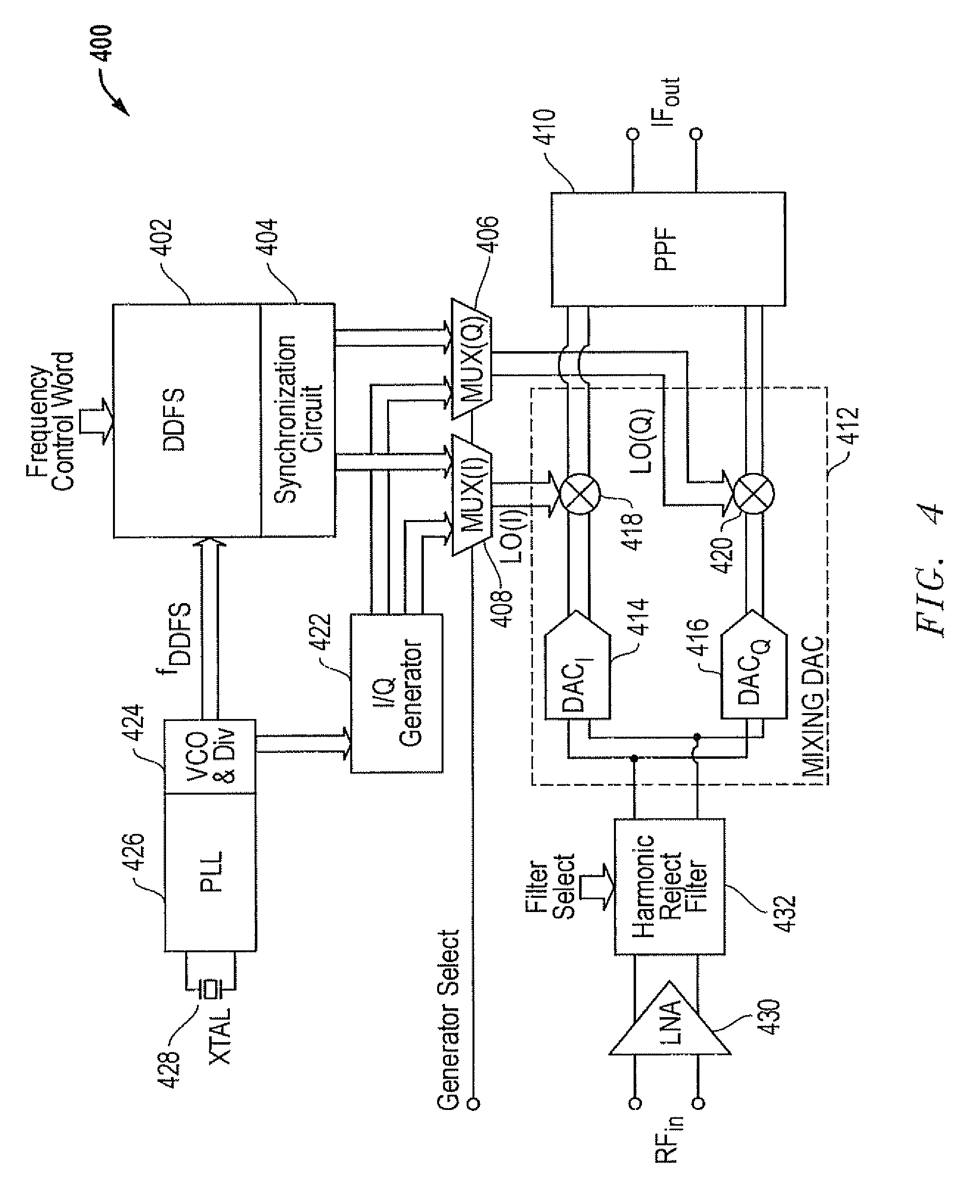 Patent Us7599676 Power Consumption Reduction Techniques For An Rf Block Diagram Of Analogue Uhf Tv Receiver Drawing