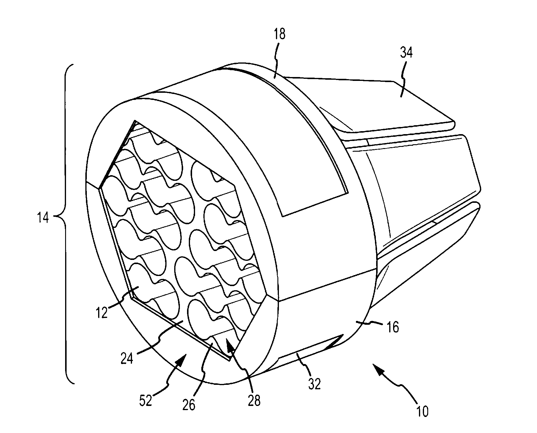patent us7600721 - network cable bundling tool