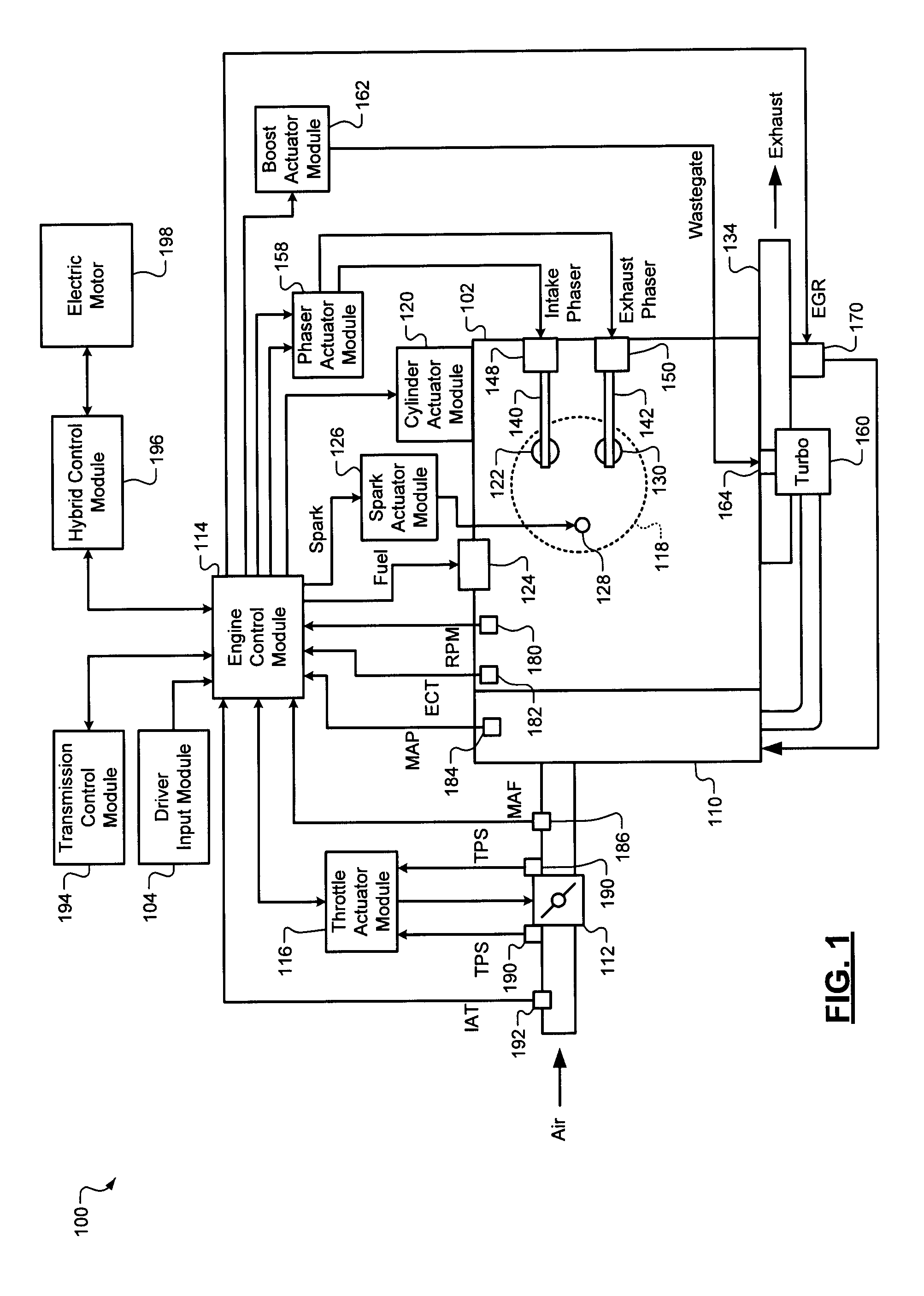 Patent Us7614384 Engine Torque Control With Desired State 134 Exhaust Valve Diagram Drawing