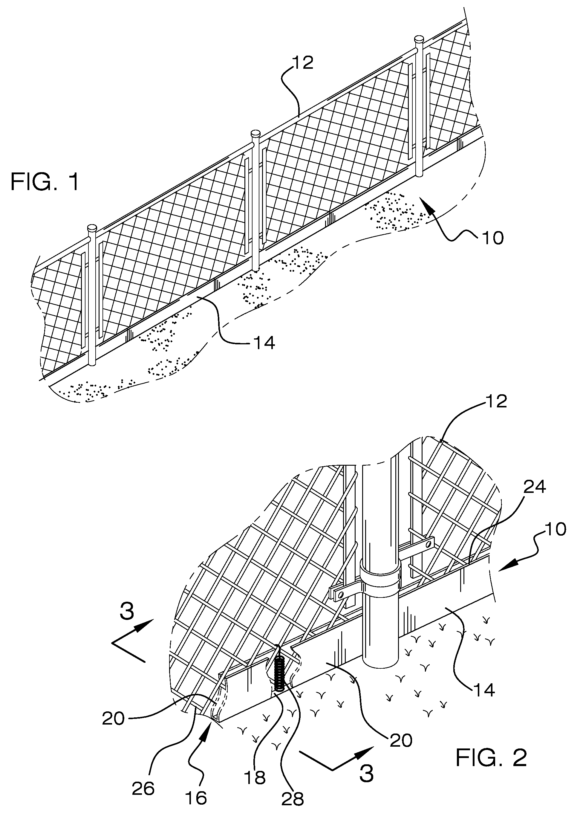 Patent Us7628385 Fence Edge Guard Google Patents