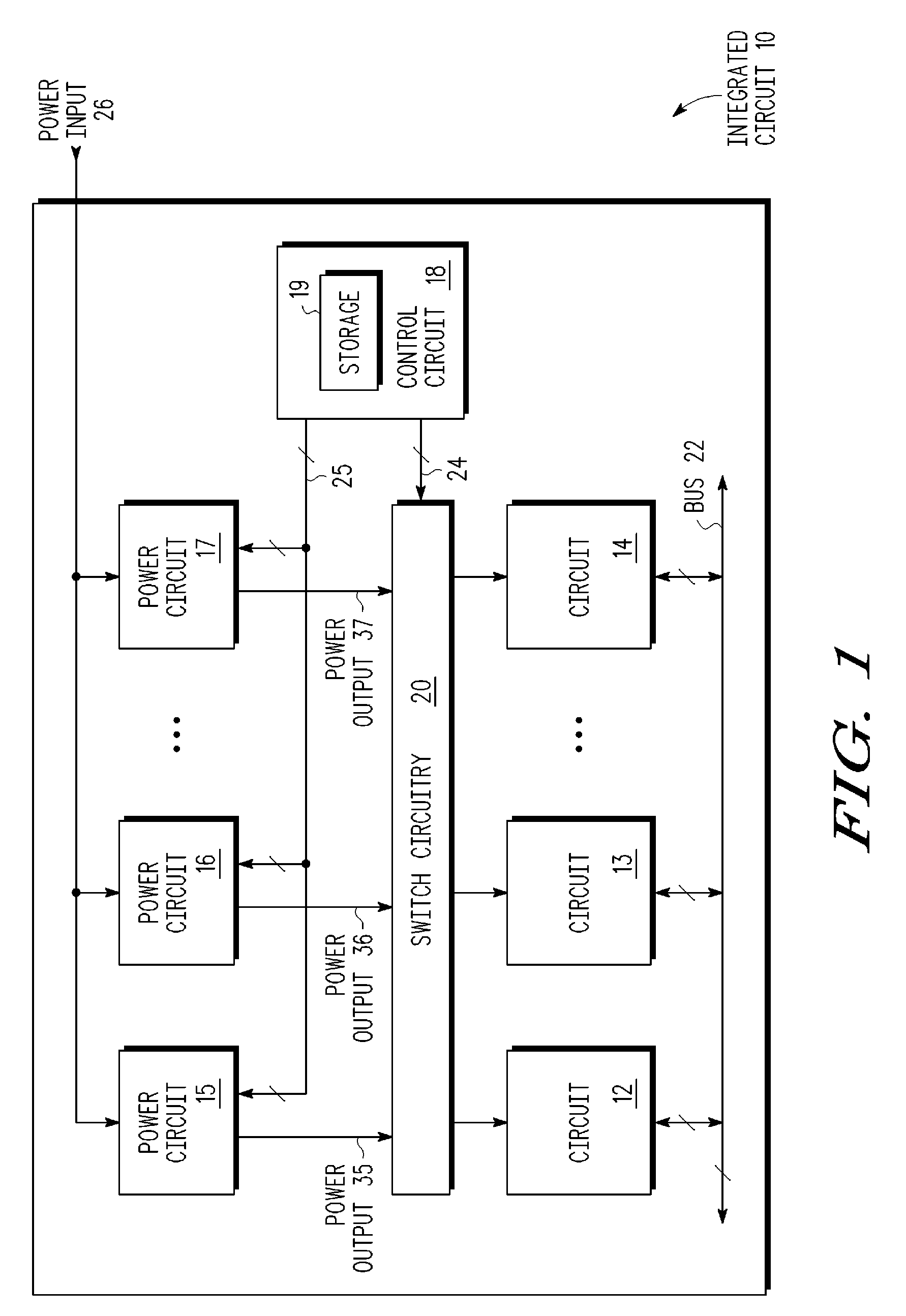 What Is An Integrated Circuit 18 Patent Us7638903 Power Supply Selection For Multiple Circuits On Drawing