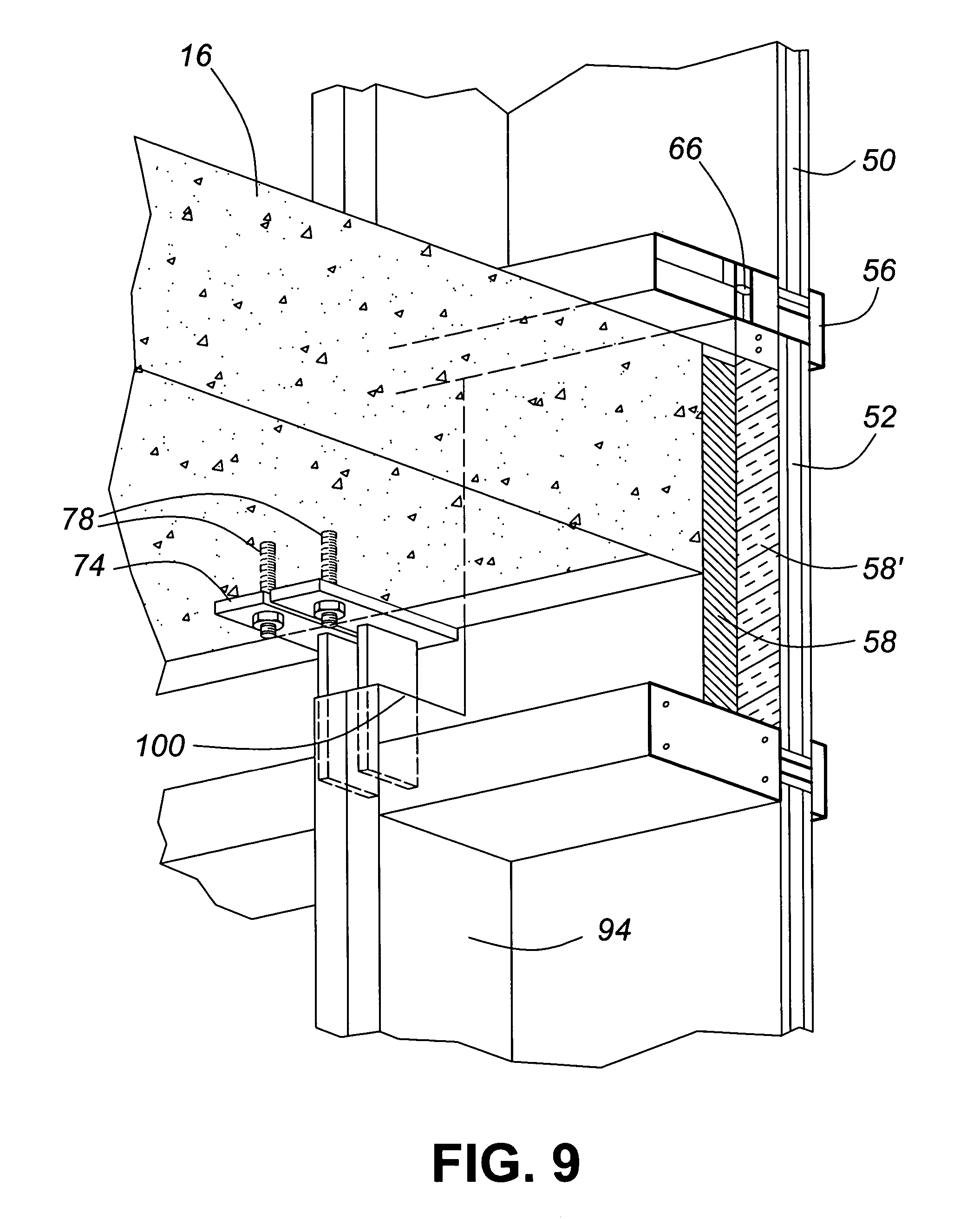 Patent Us7644549 Hybrid Window Wall Curtain Wall System