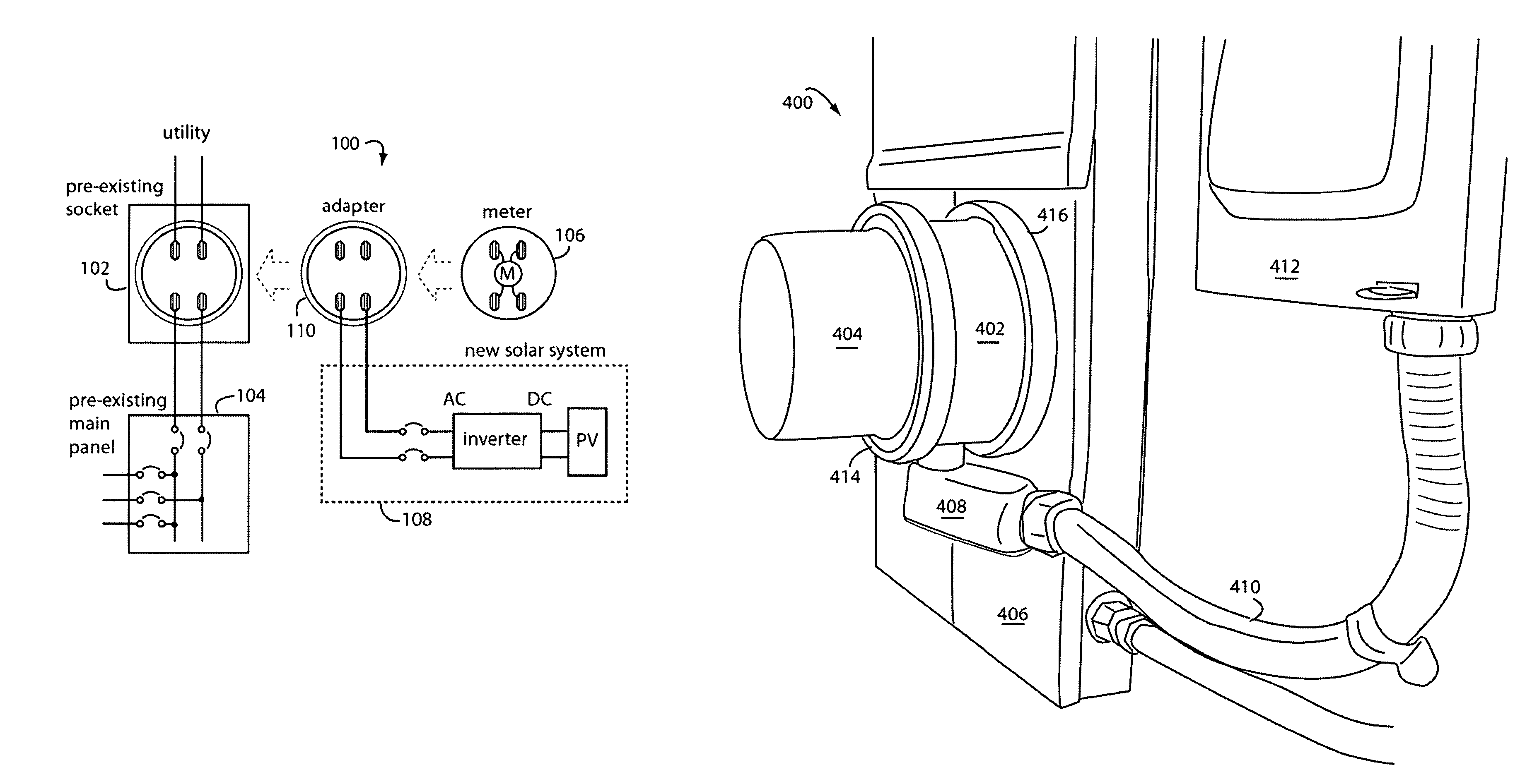 Patent us supply side backfeed meter socket