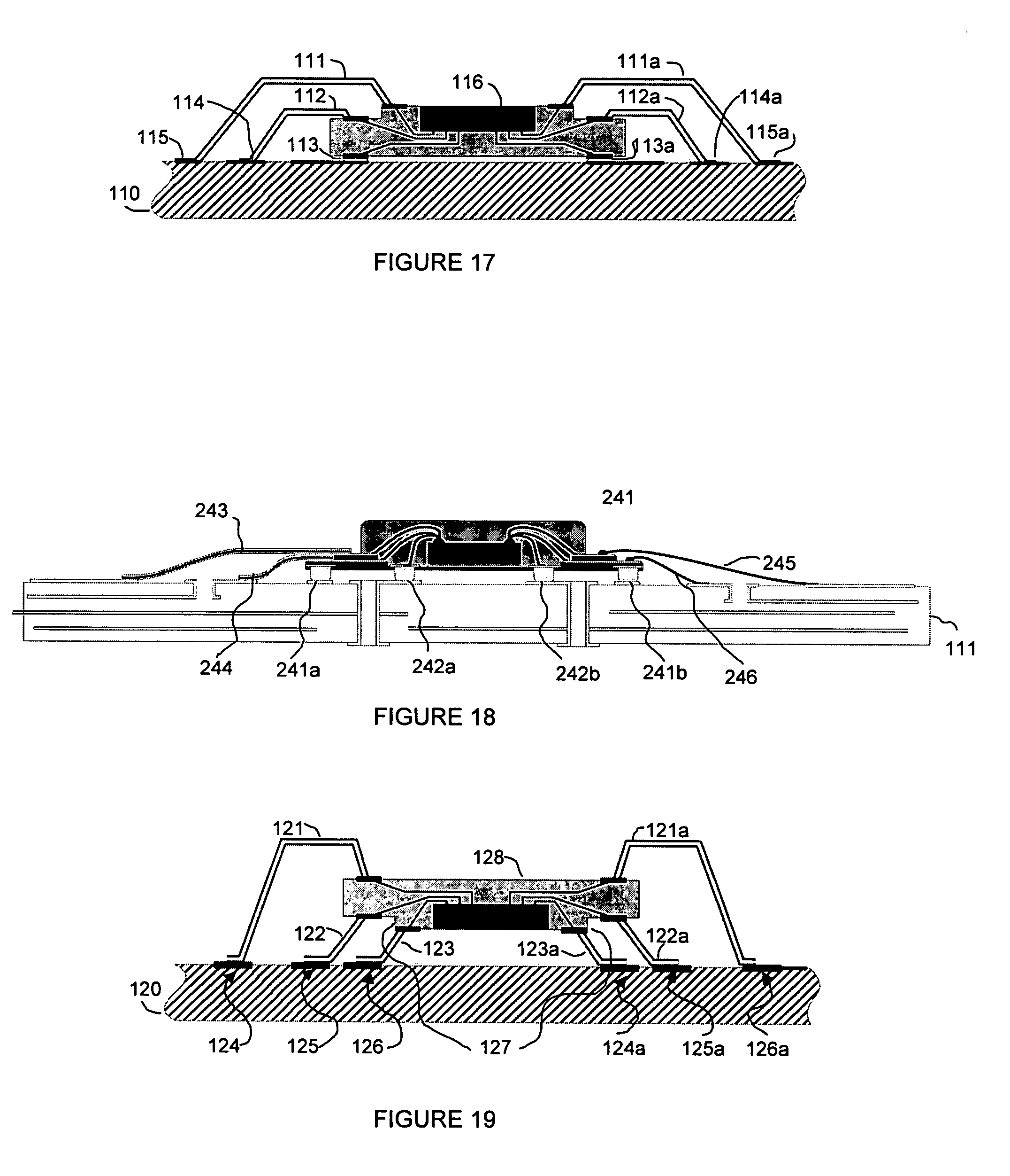 patent us7652381 - interconnect system without through-holes