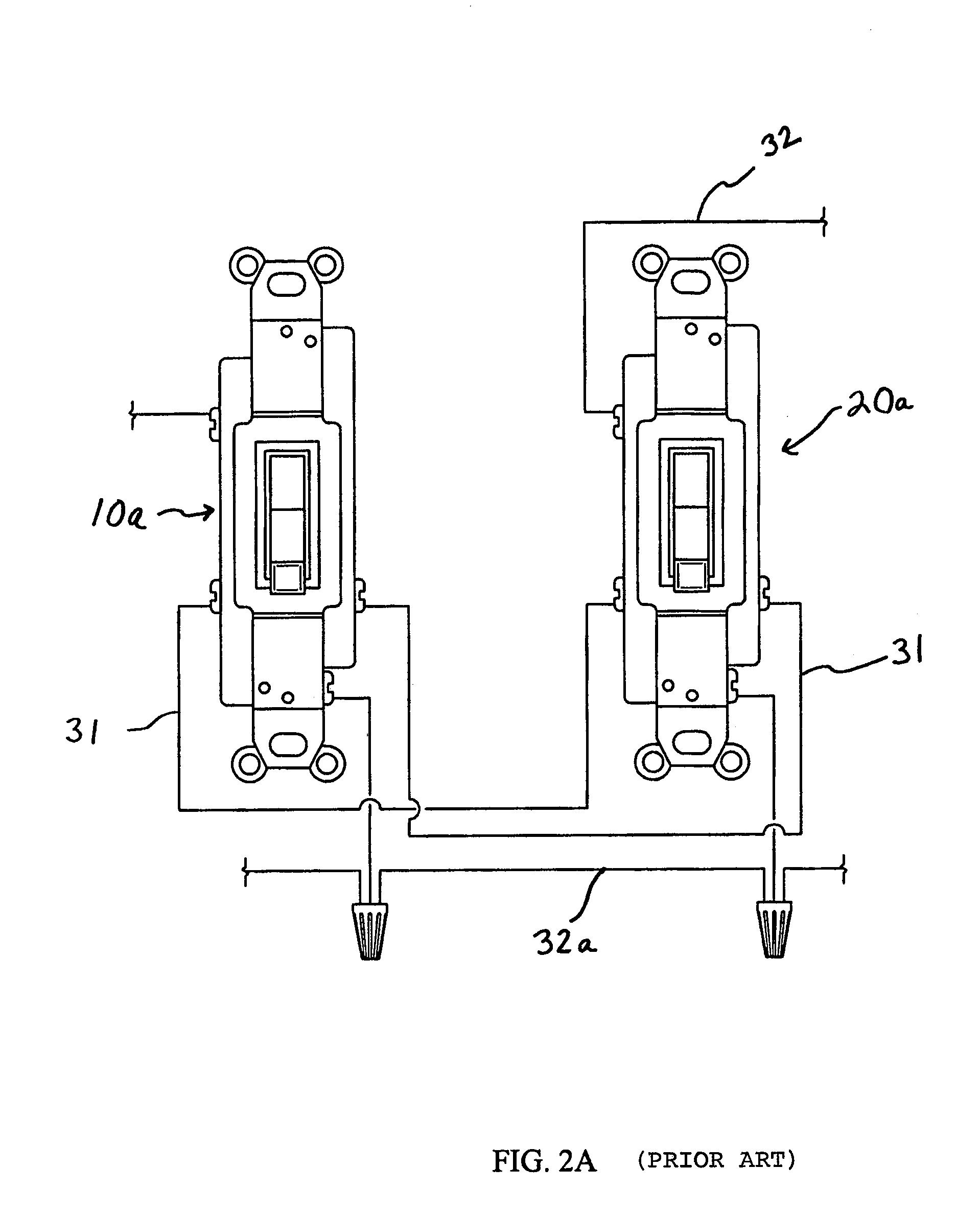 patent us7656308 - ac powered wireless control 3-way light switch transmitter