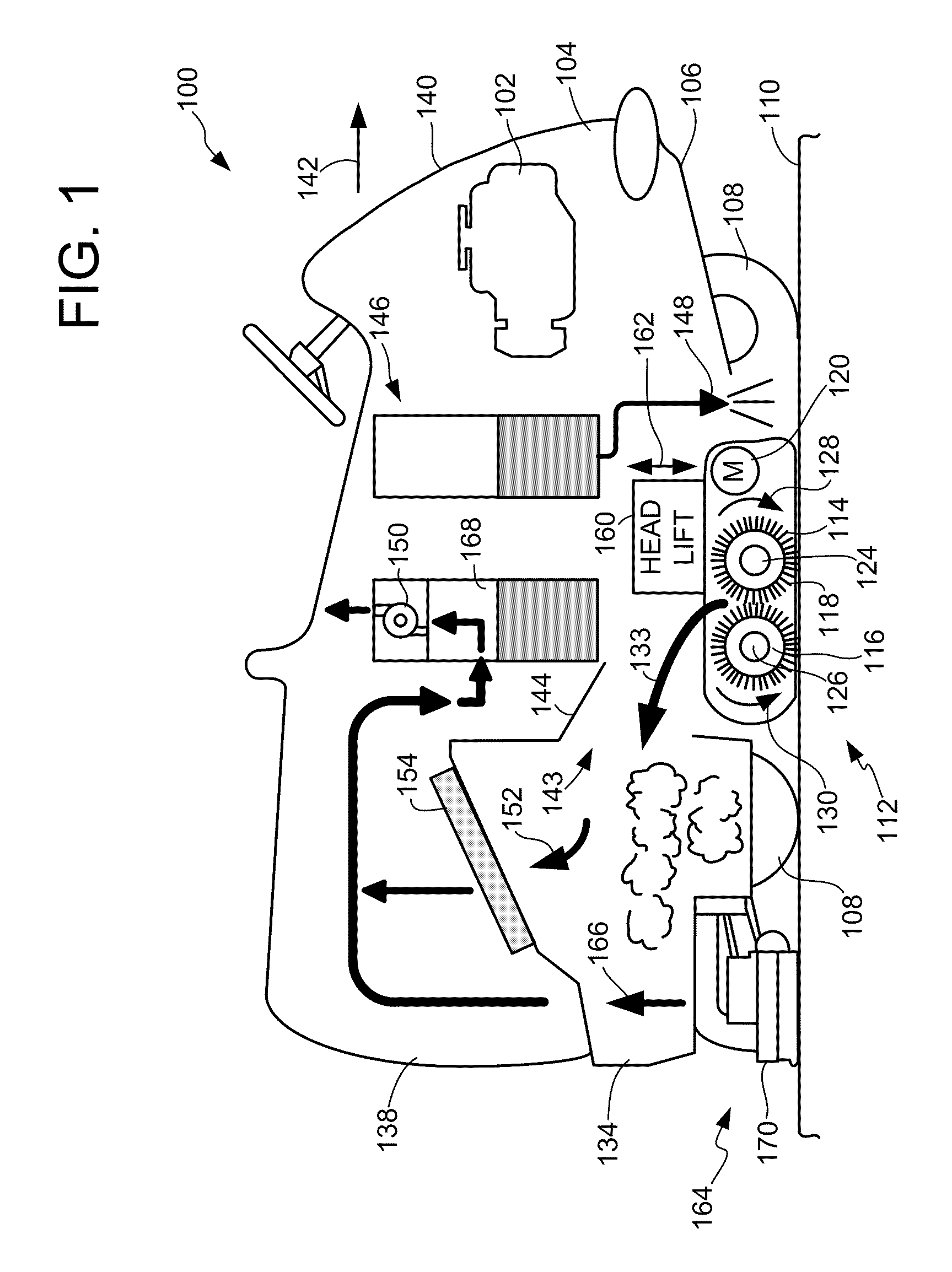 Patent Us7665174 Cleaning Head For Use In A Floor Machine Diagram Parts List Model 1960 Bissellparts Wetcarpetcleaner Drawing