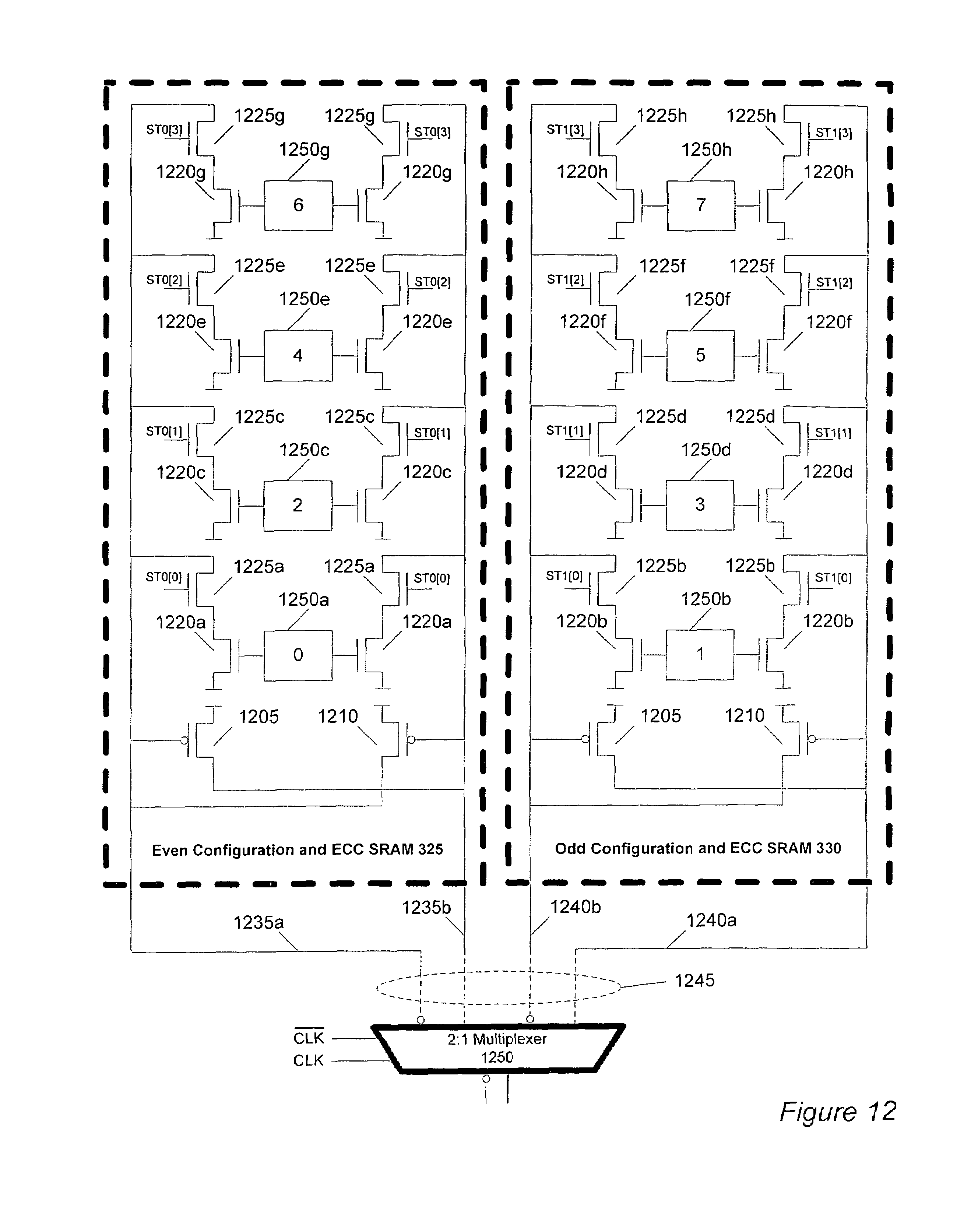 patent us7669097 - configurable ic with error detection and correction circuitry