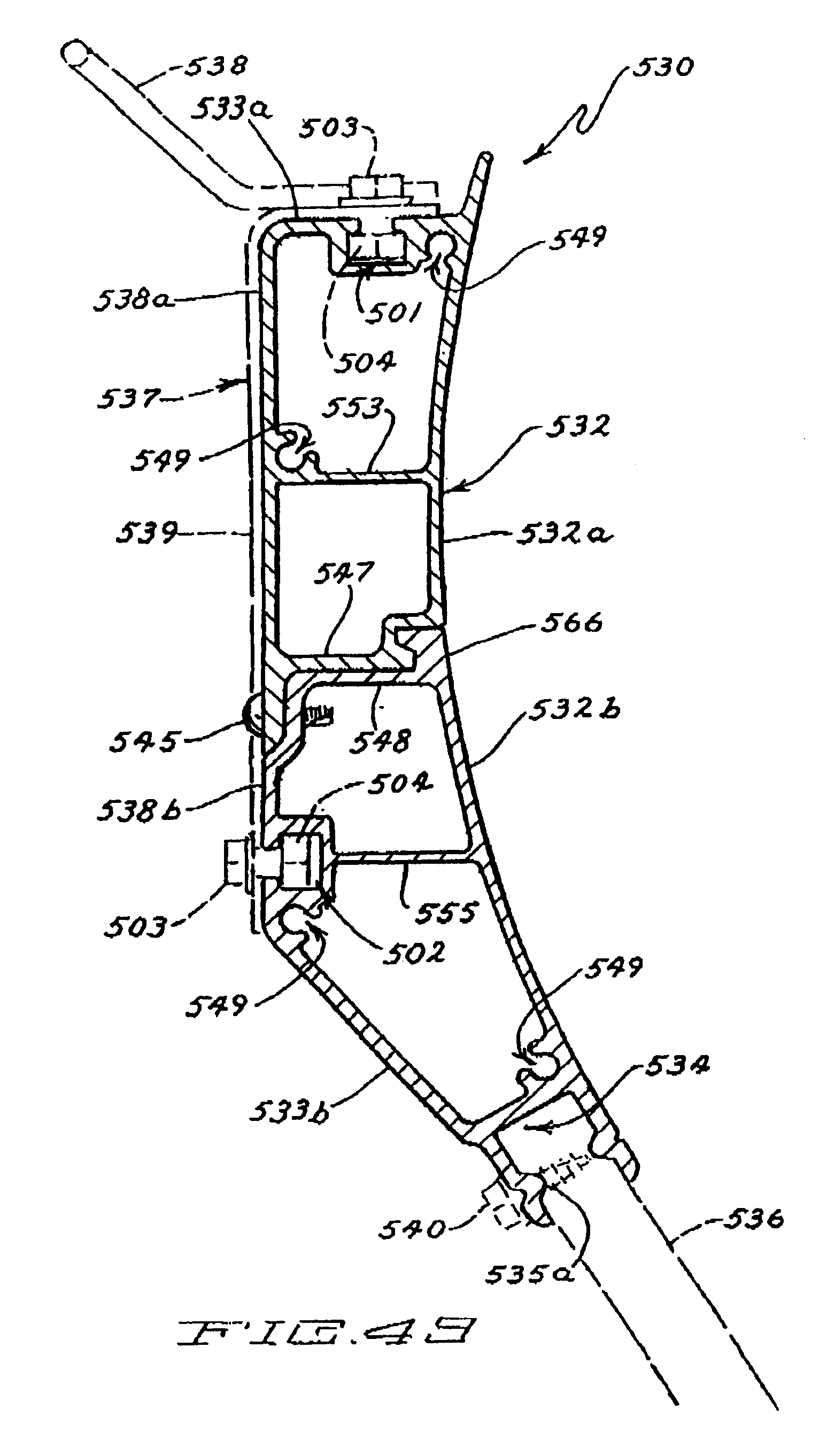 patent us7676962 snow plow having reinforced mold board Meyer Salt Spreader Wiring Diagram patent drawing