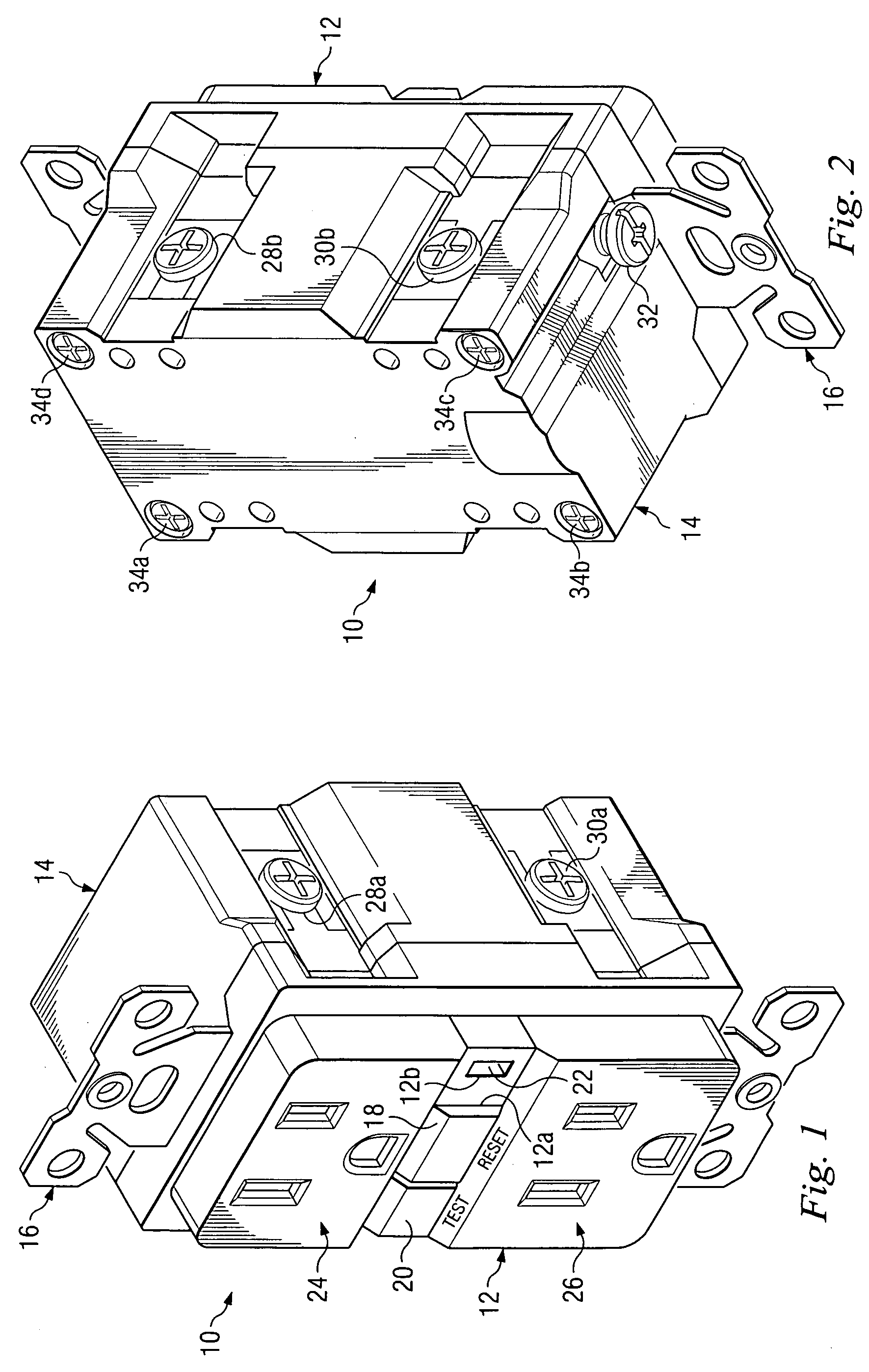 patent us7683745 - ground fault circuit interrupter device