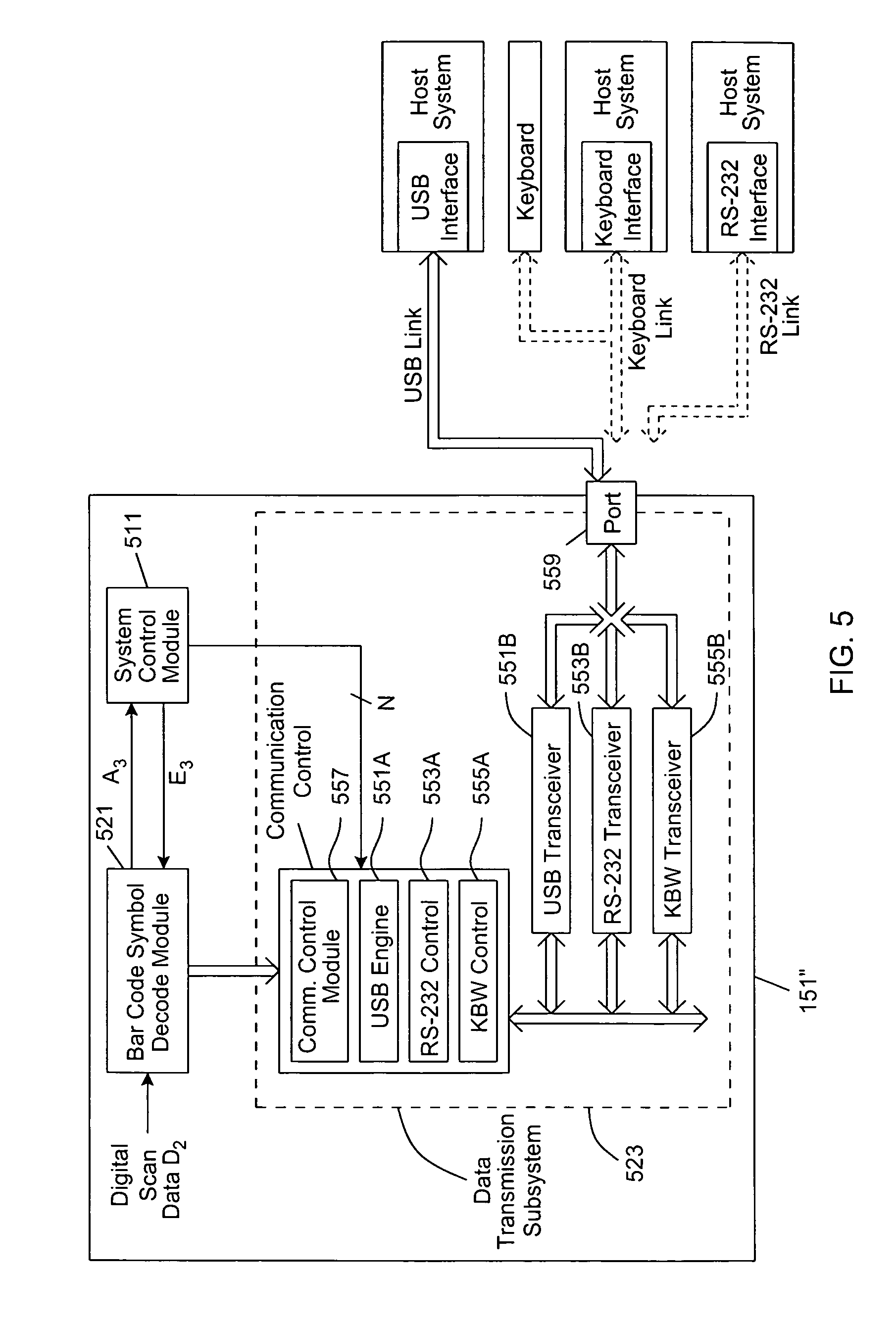 Patent Us7686226 Digital Imaging Based System Having Intelligent Rs232 Transceiver Circuit Collection Drawing