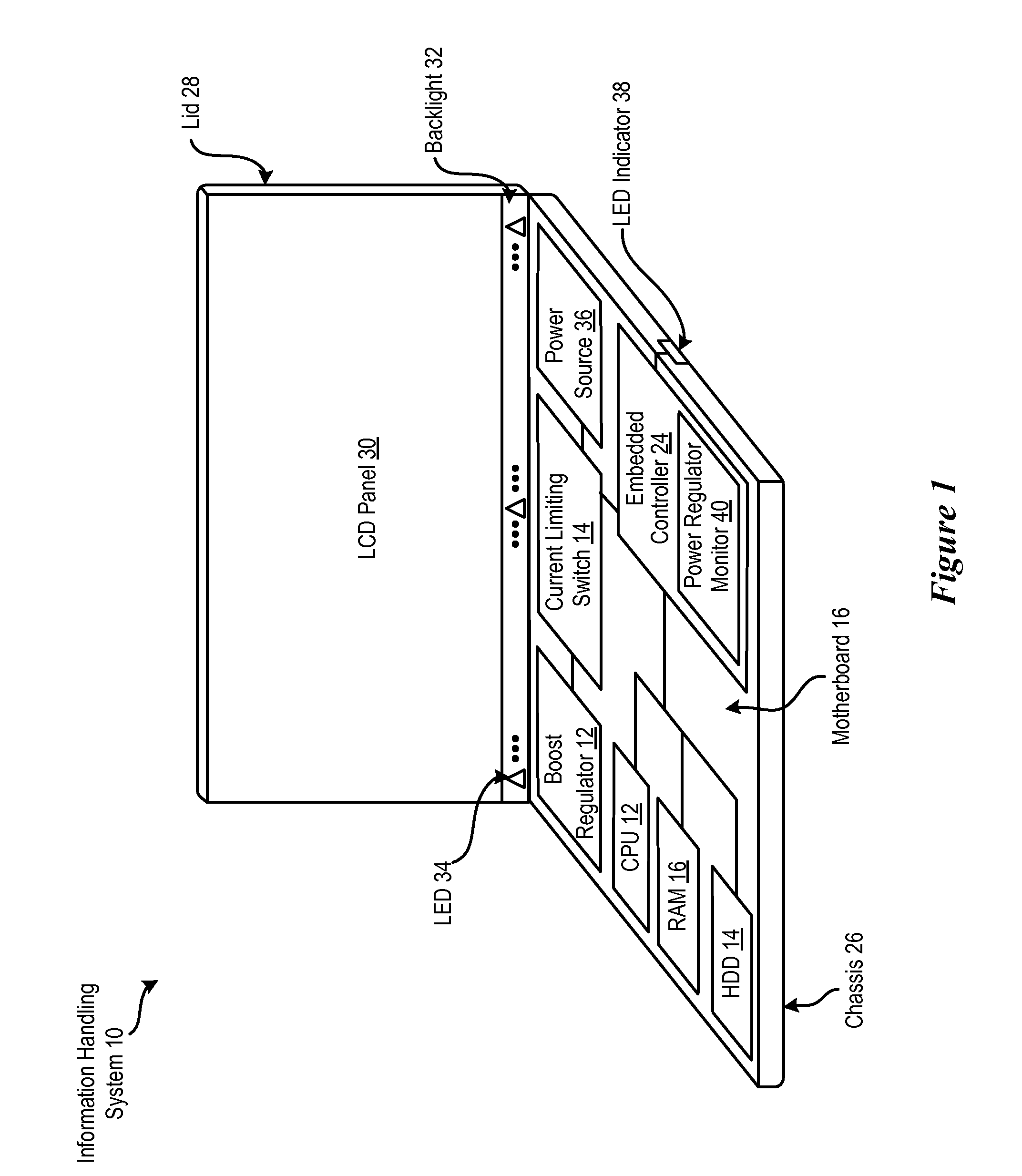 Patent Us7692912 System And Method For Information Handling Regulator Current Booster Drawing