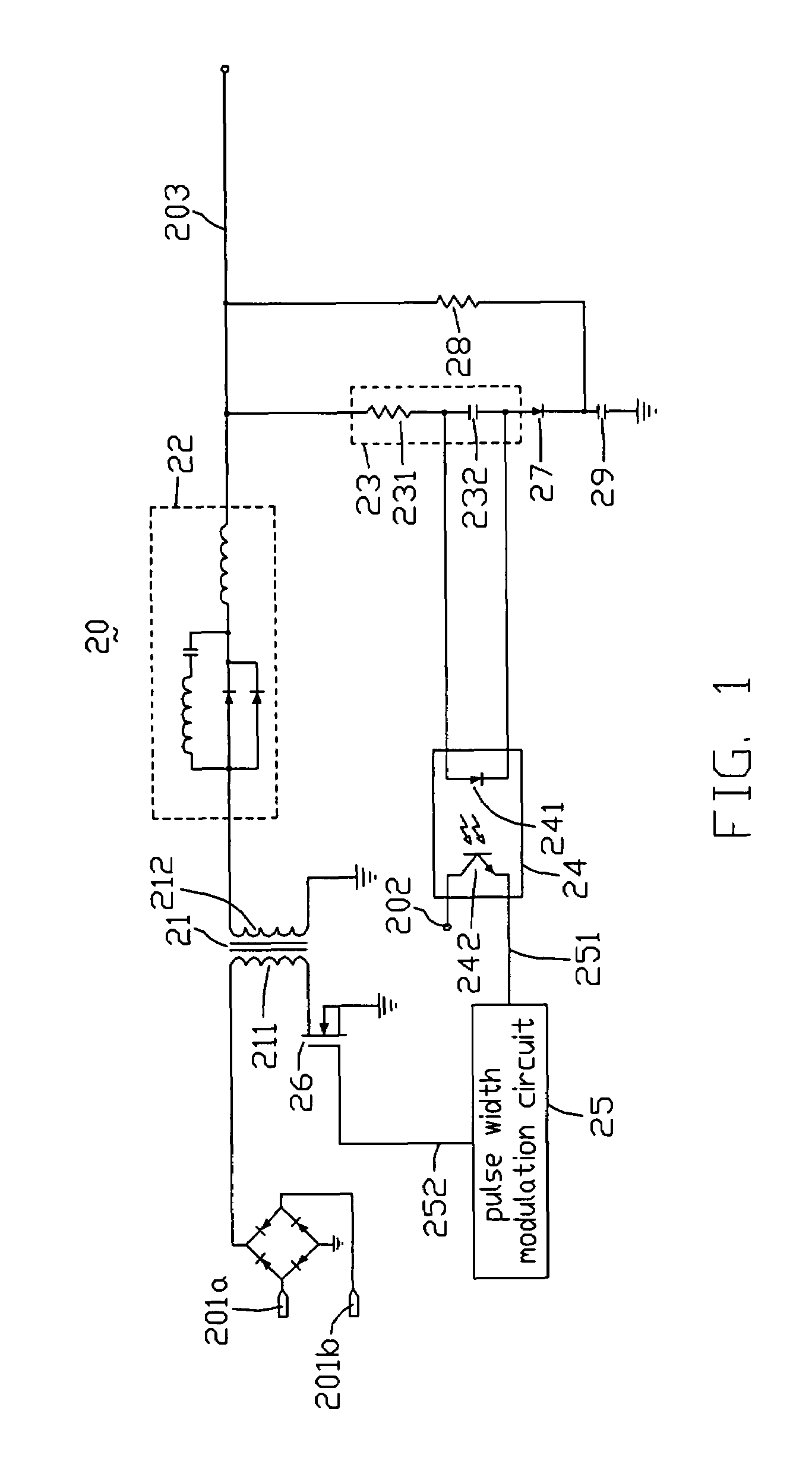 Patente Us7697307 Power Supply Circuit For Outputting Steady Pulse Width Modulator Patent Drawing