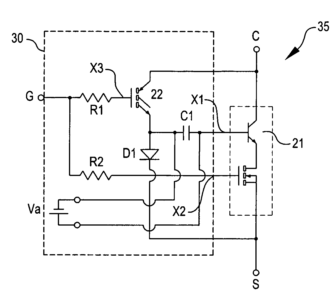 Patente Us7701279 Driving Circuit For An Emitter Switching Time Delay Schematic In Addition Switch Patent Drawing