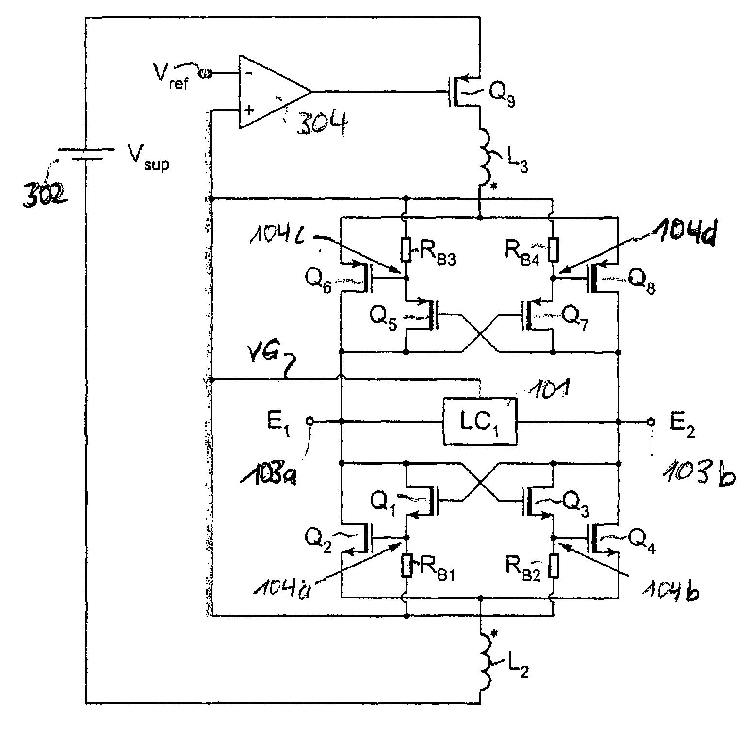 Patent Us7701303 Oscillator With Darlington Nodes Google Patents Pair Circuit Drawing