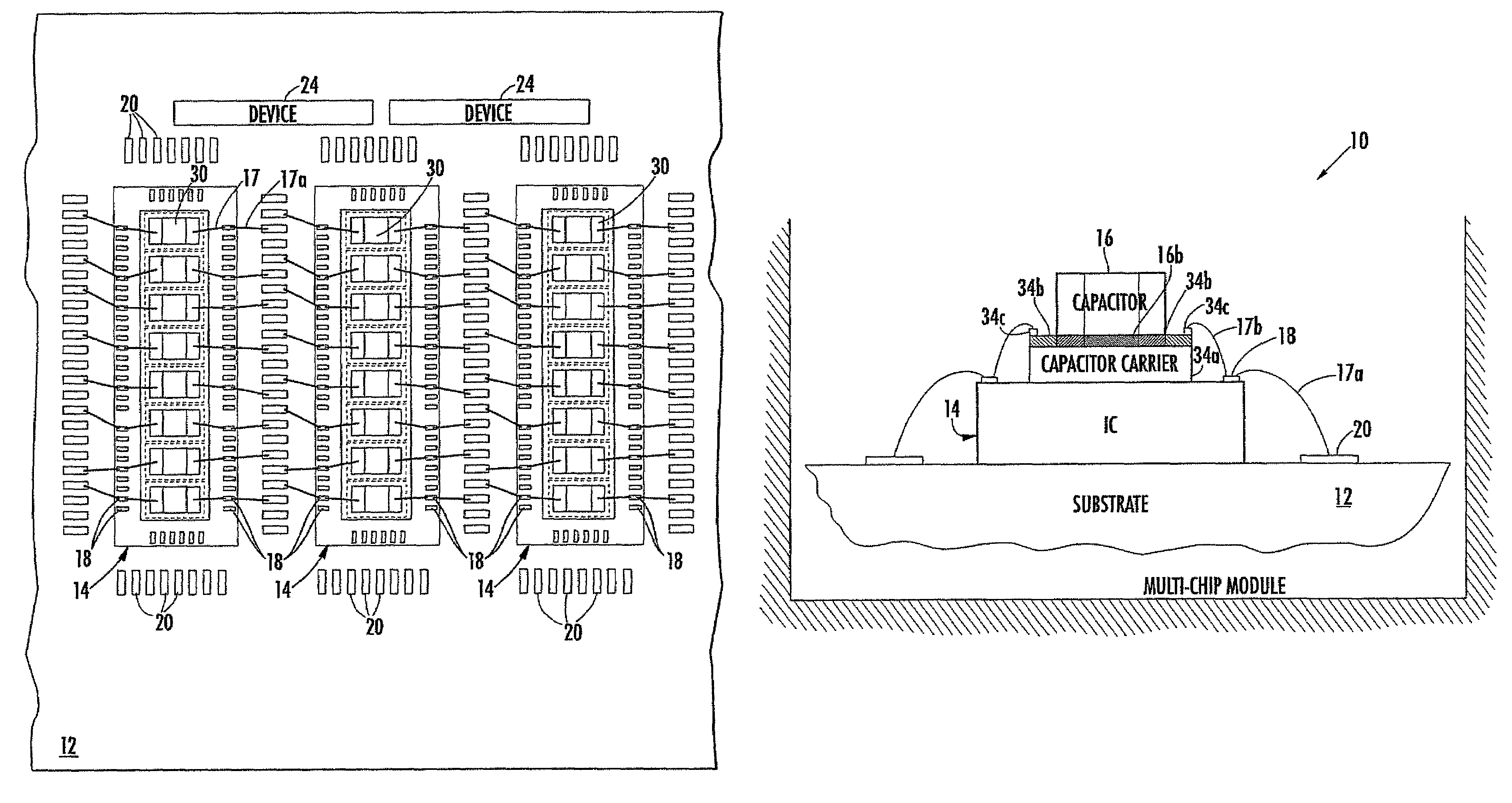 Patent Us7705450 Decoupling Capacitor Closely Coupled With How To Place A Coupling In Circuit Drawing
