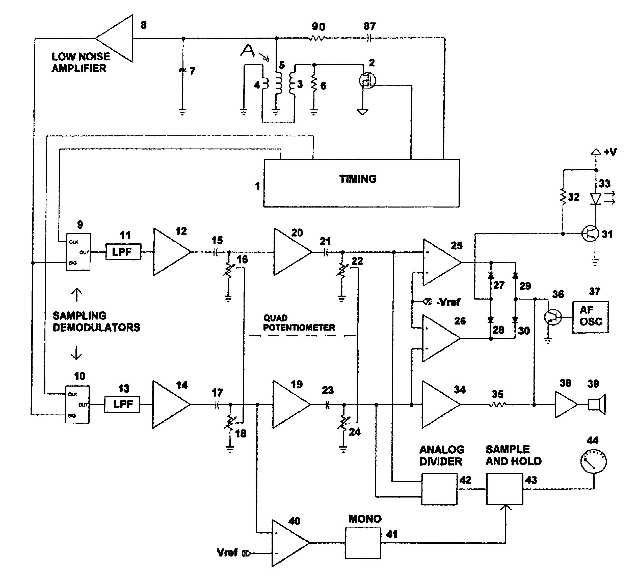 Metal Detector Coil Schematic Wiring Diagrams Pi Circuit Patent Us7710118 Resonant Pulse Induction Search Vintage Garrett Schematics