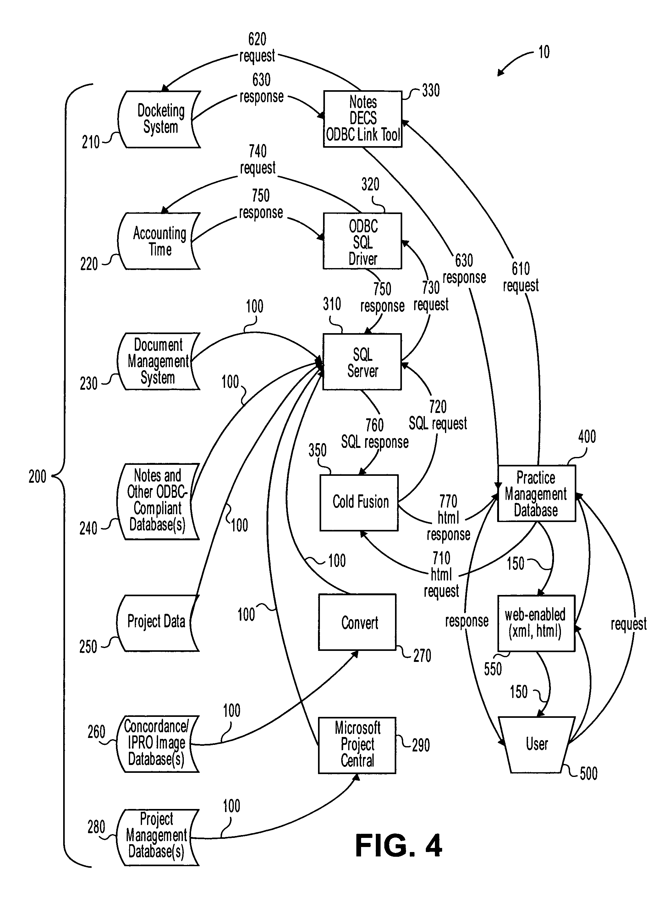 patent us7711691 project management system method and network Windows XP Contacts patent drawing