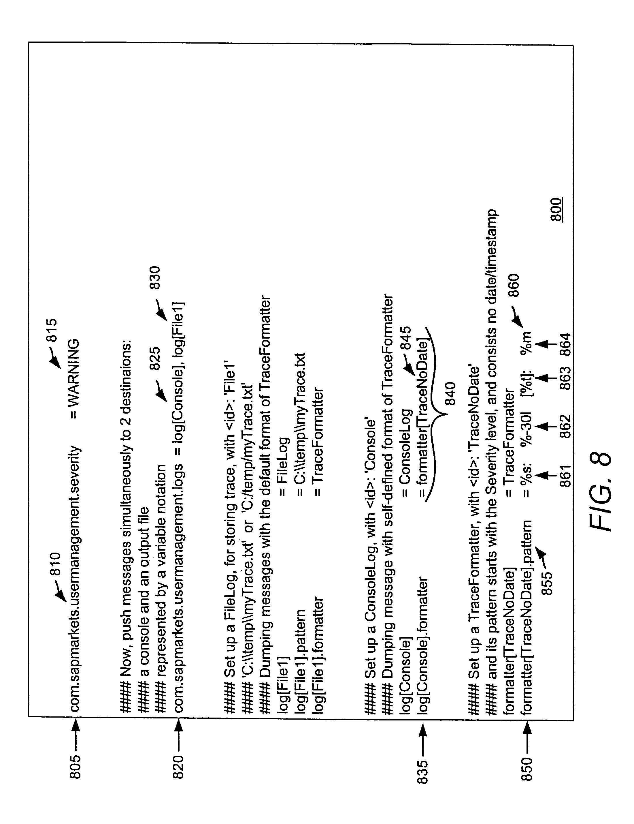 Patent US7721266 - Unified logging service with a logging