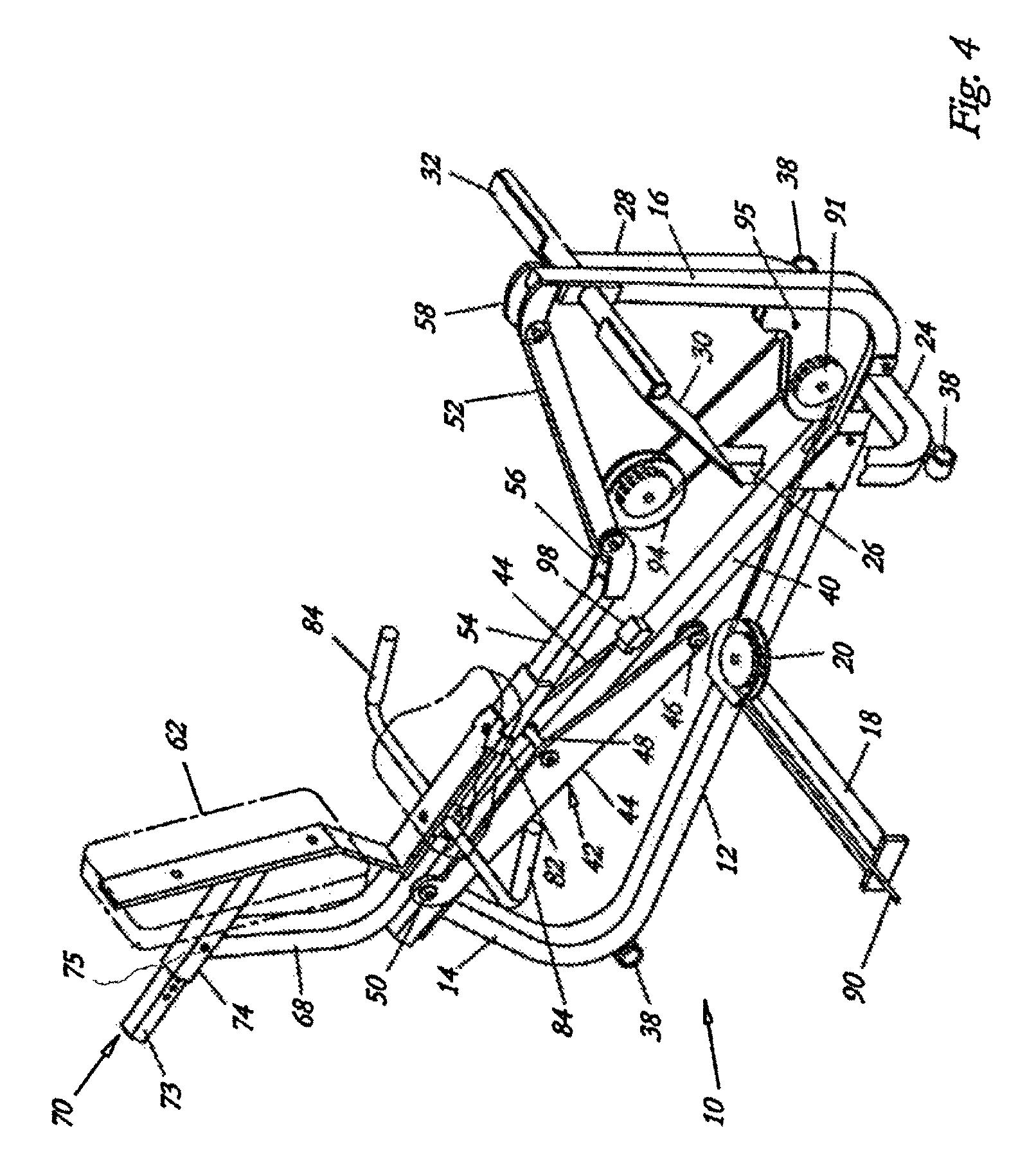 Patent US7727128 - Leg press machine - Google Patents