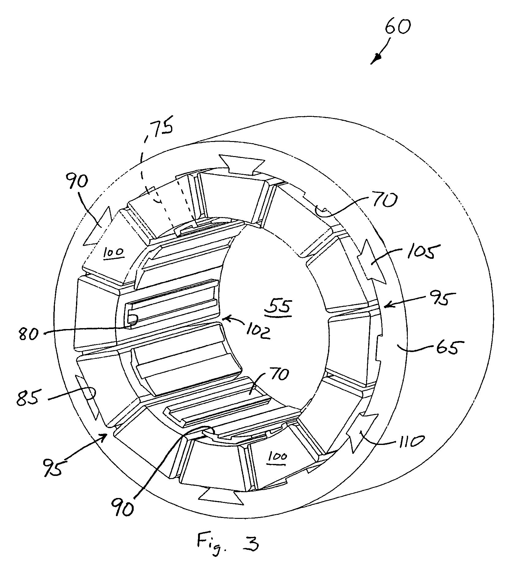 patent us7737598 - electric motor having a stator