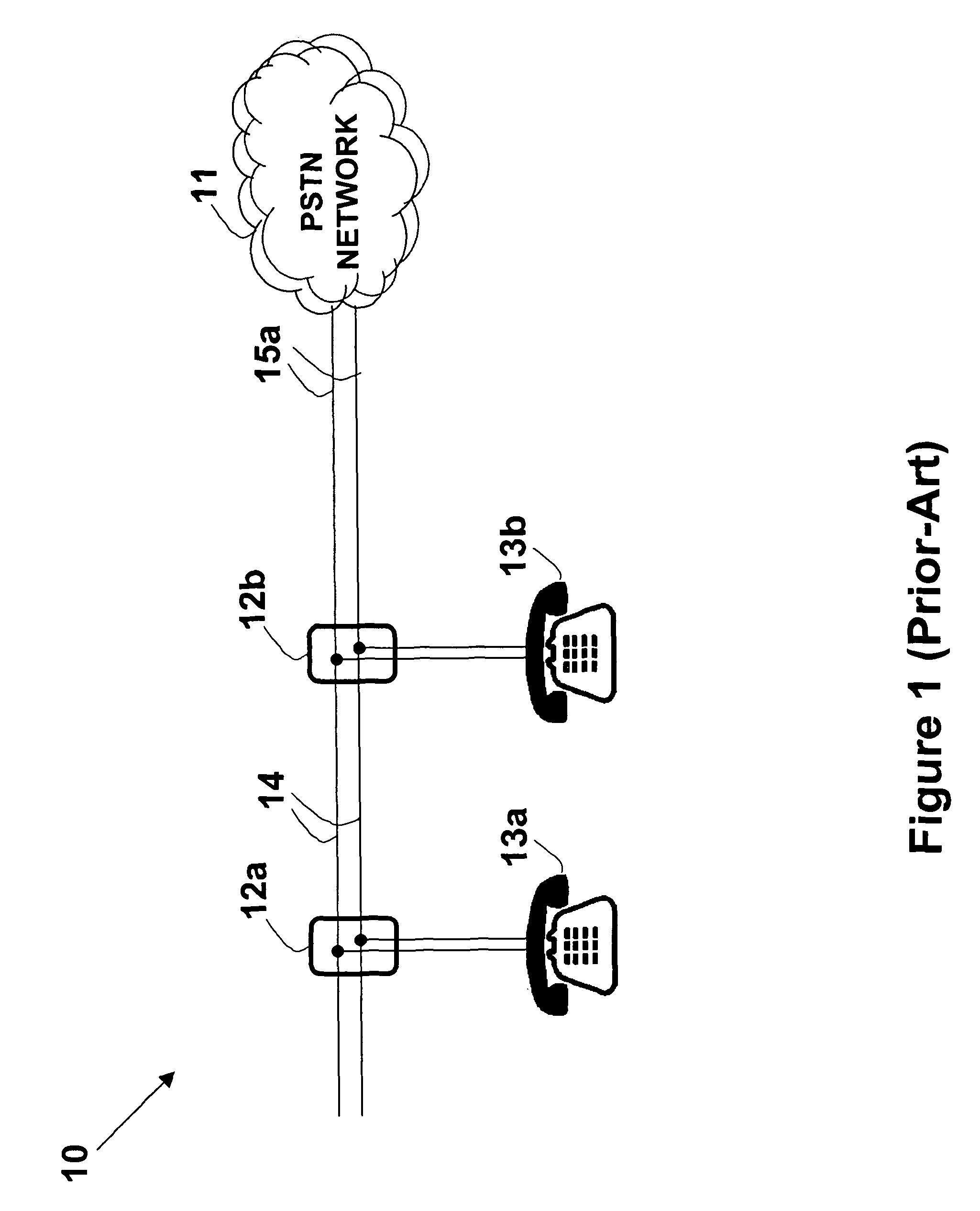 Telephone System Having Multiple Distinct On Wiring Telephone Sockets