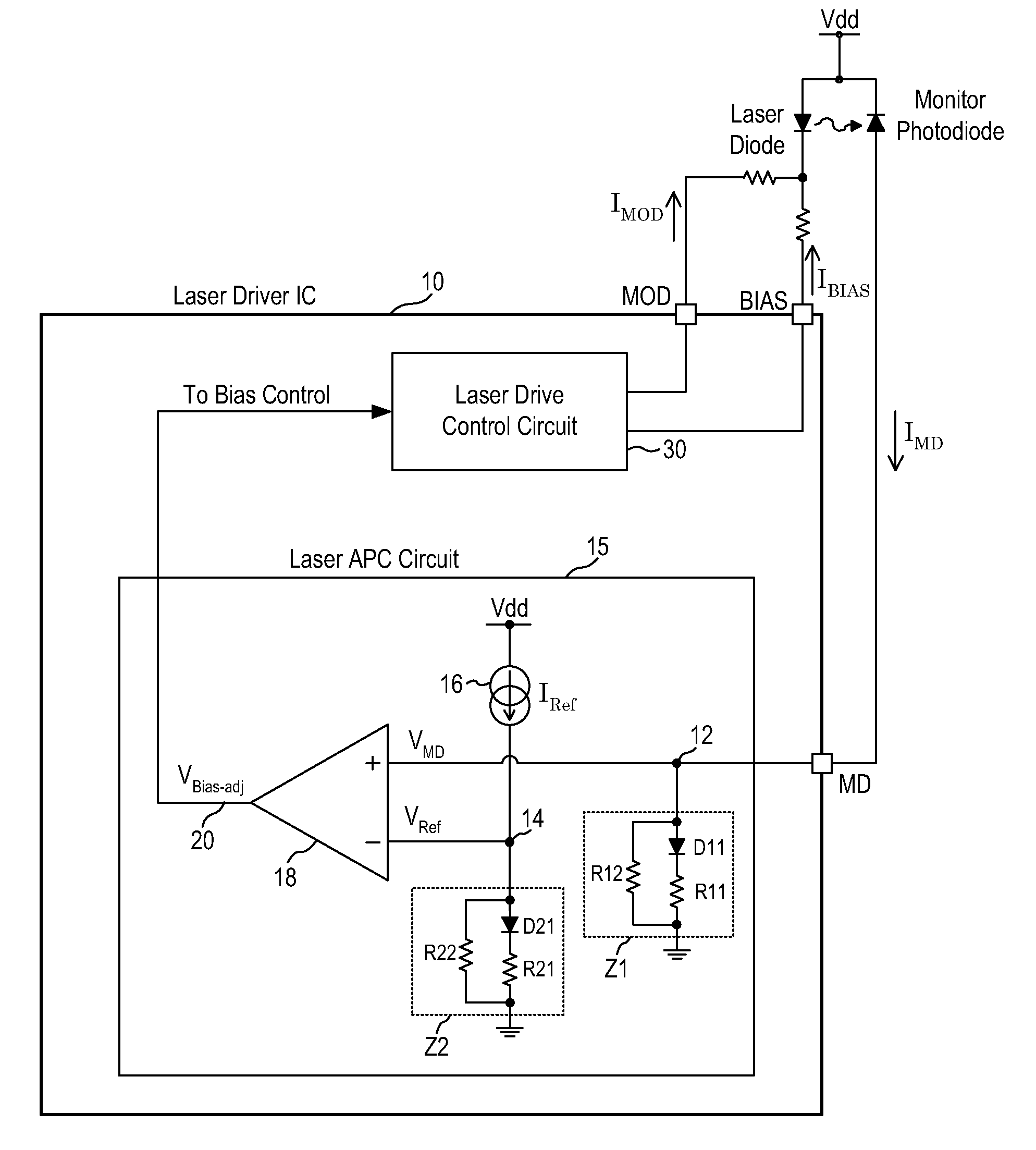 Laser Current Control Circuit Best Electrical Wiring Diagram Example Wld3343 In Constant Mode With A Type Patent Us7738519 Driver Automatic Power Monitor Vicor