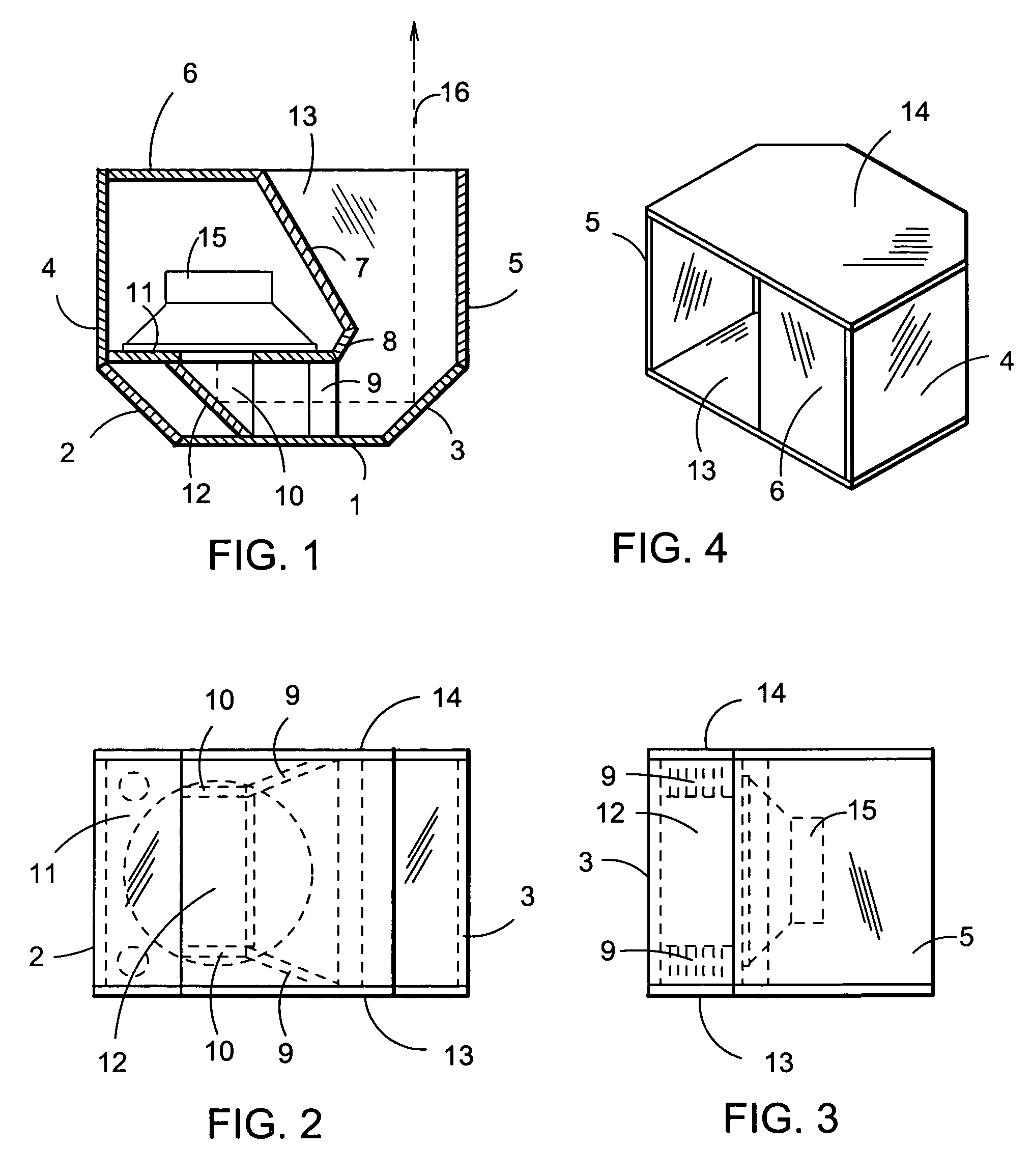 Patent US7743878 Folded Horn Enclosure With Unitary
