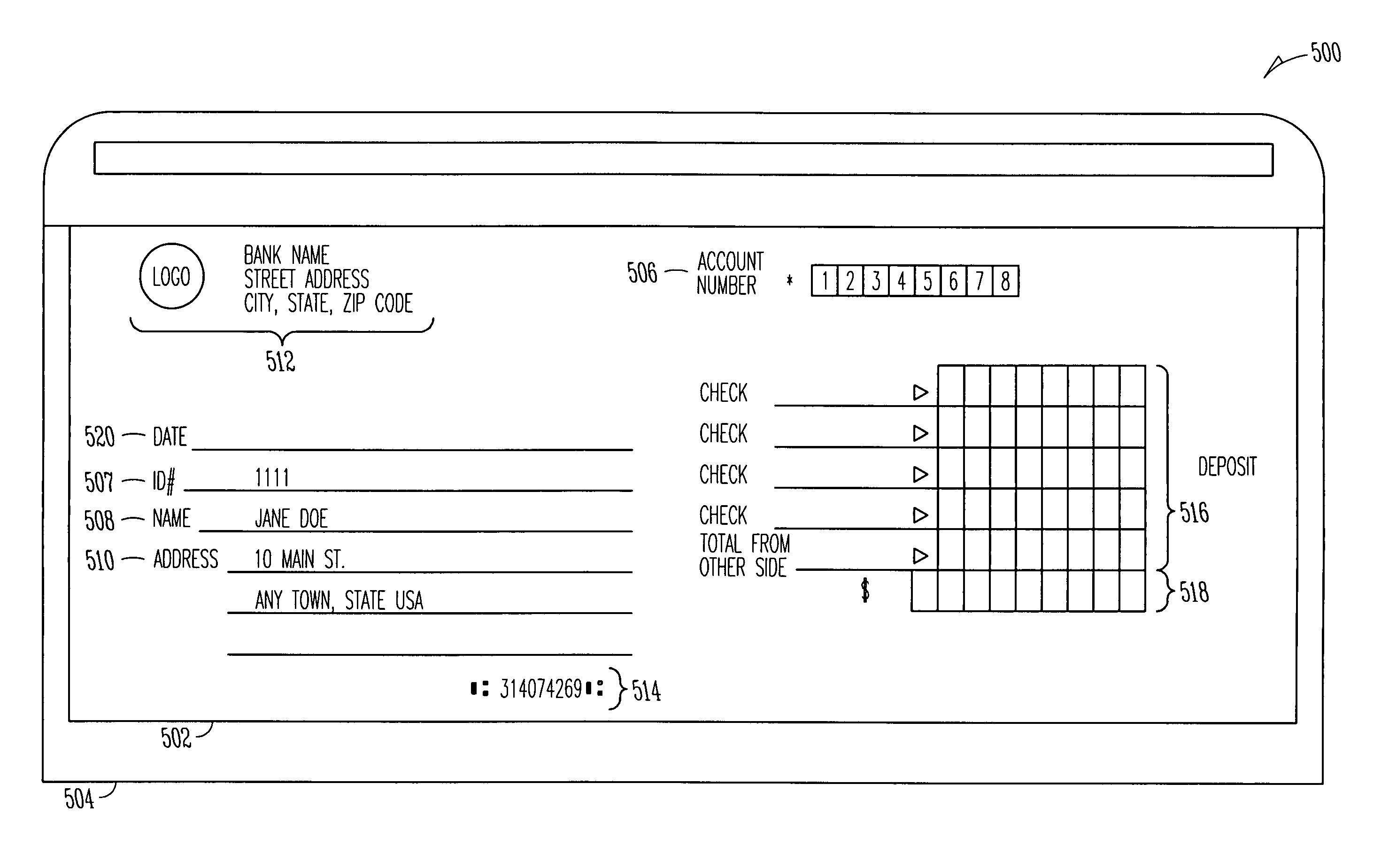 deposit ticket template