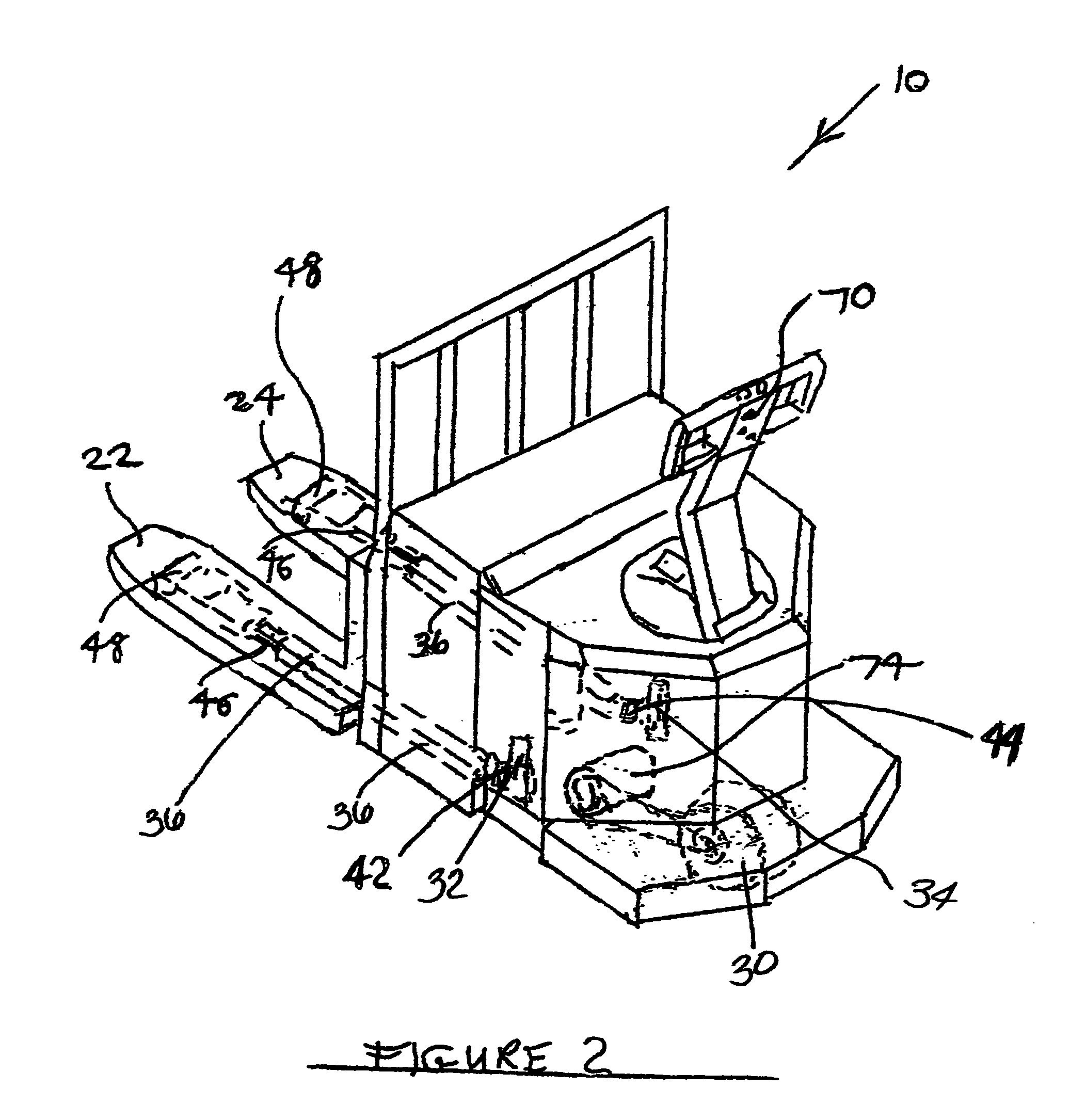patent us7744335 pallet jack with independently elevatable fork Crown Pallet Jack Parts Diagram patent drawing