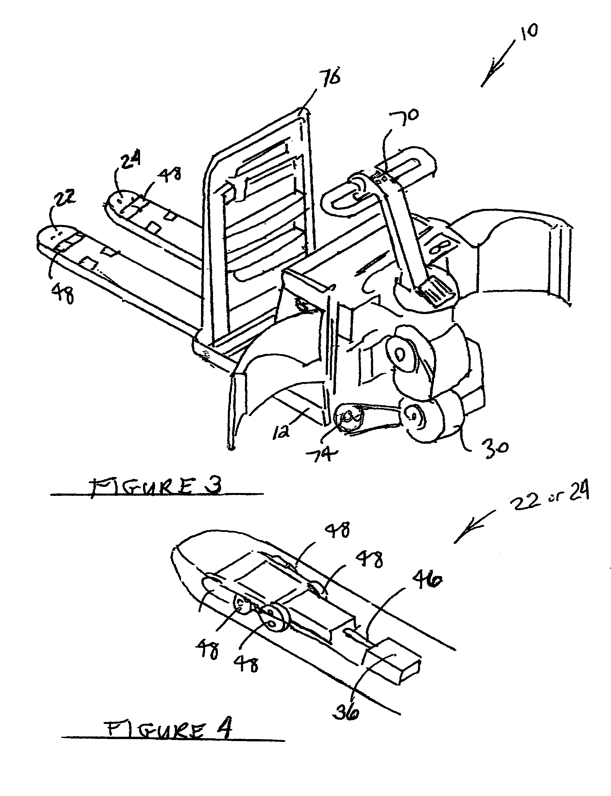 patent us7744335 pallet with independently elevatable fork arms patents