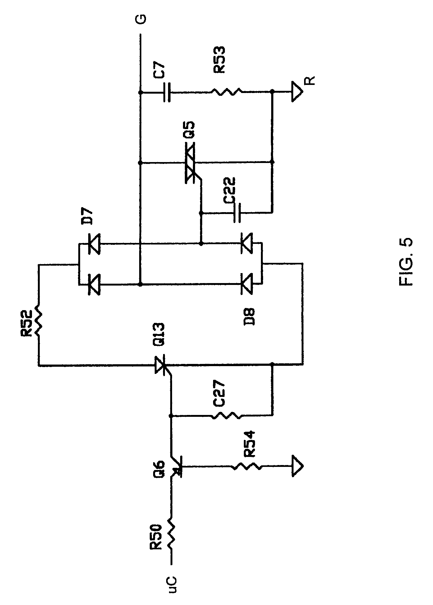 patent us7755220 - power stealing for a thermostat using a triac with fet control