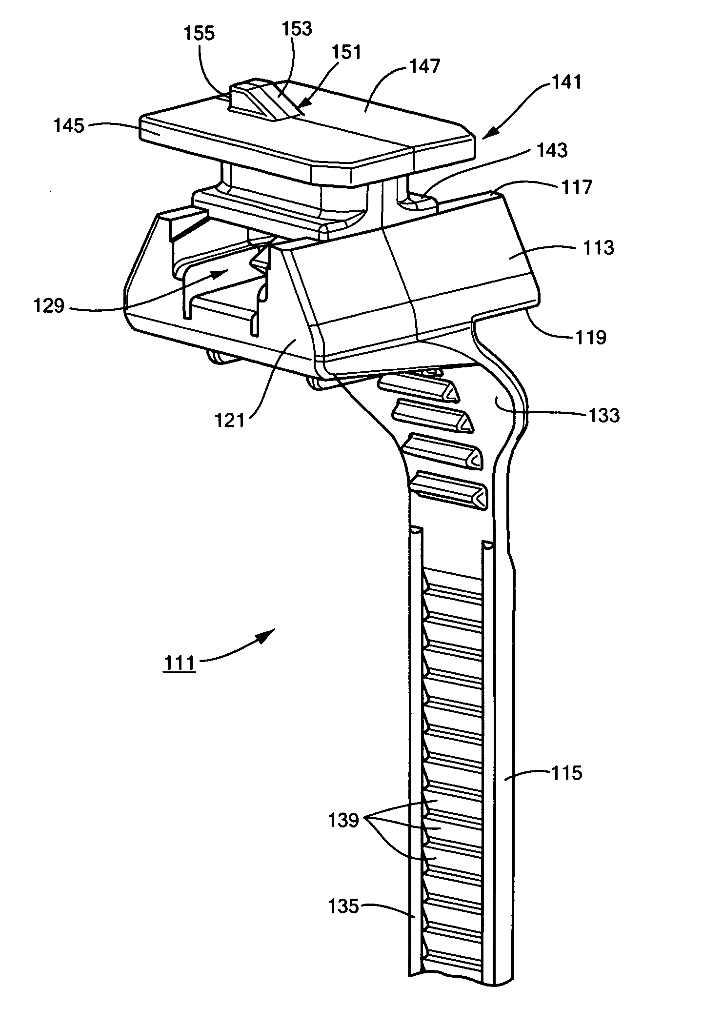 patent us7762503 cable tie with oxygen sensor connector fastener Wiring Harness Connectors patent drawing